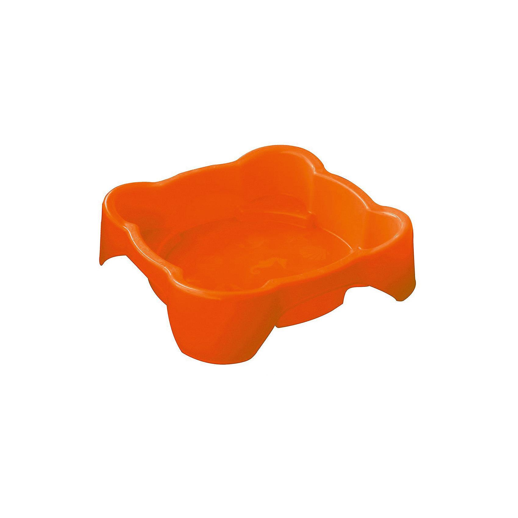 Marianplast Песочница квадратная, оранжевая, Marianplast