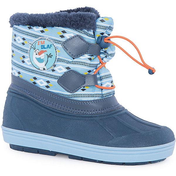 Сноубутсы Холодное сердце для девочки MursuОбувь<br>Сноубутсы для девочки MURSU (Мурсу).<br><br>Характеристики:<br><br>• цвет: синий/голубой<br>• температурный режим до -25С<br>• верхний материал: искусственные материалы, текстиль<br>• внутренний материал: искуственный мех, натуральная шерсть<br>• стелька: натуральная шерсть<br>• подошва: ТЭП<br>• утяжка по высоте сноубутсов<br>• сезон: зима<br><br>Сноубутсы MURSU созданы специально для любителей мультфильма Холодное сердце, ведь сбоку они украшены изображением веселого снеговика. Меховая подкладка и стелька подарят комфорт и тепло во время прогулки. Модель имеет рифленую устойчивую подошву и меховой выступ по верху. Спереди сноубутсы утягиваются по толщине ноги. Прекрасный выбор для любителей длительных прогулок!<br><br>Сноубутсы для девочки MURSU (Мурсу) вы можете приобрести в нашем интернет-магазине.<br>Ширина мм: 262; Глубина мм: 176; Высота мм: 97; Вес г: 427; Цвет: голубой; Возраст от месяцев: 48; Возраст до месяцев: 60; Пол: Женский; Возраст: Детский; Размер: 28,29,26,27,24,25,30; SKU: 4861716;
