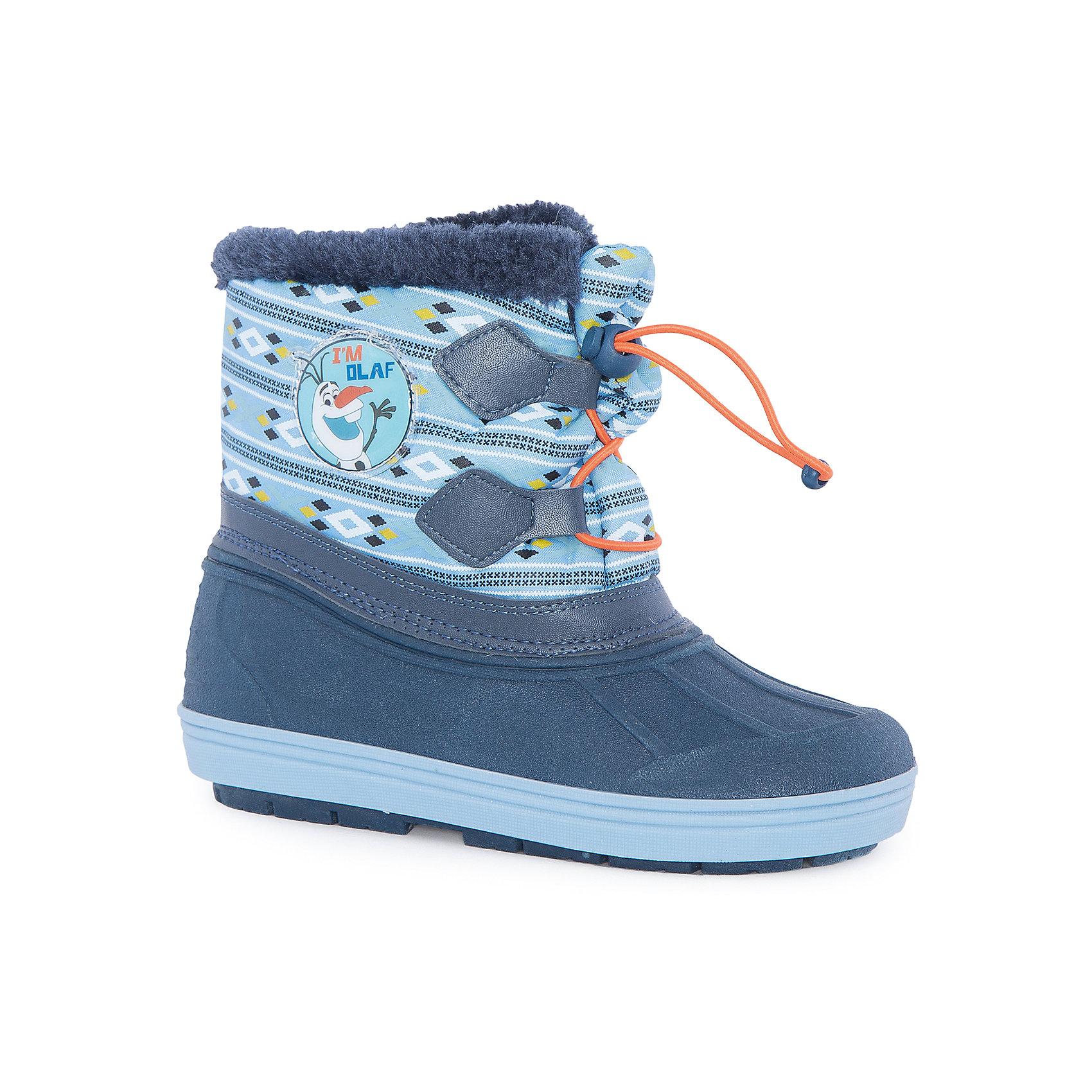 Сноубутсы Холодное сердце для девочки MursuОбувь<br>Сноубутсы для девочки MURSU (Мурсу).<br><br>Характеристики:<br><br>• цвет: синий/голубой<br>• температурный режим до -25С<br>• верхний материал: искусственные материалы, текстиль<br>• внутренний материал: искуственный мех, натуральная шерсть<br>• стелька: натуральная шерсть<br>• подошва: ТЭП<br>• утяжка по высоте сноубутсов<br>• сезон: зима<br><br>Сноубутсы MURSU созданы специально для любителей мультфильма Холодное сердце, ведь сбоку они украшены изображением веселого снеговика. Меховая подкладка и стелька подарят комфорт и тепло во время прогулки. Модель имеет рифленую устойчивую подошву и меховой выступ по верху. Спереди сноубутсы утягиваются по толщине ноги. Прекрасный выбор для любителей длительных прогулок!<br><br>Сноубутсы для девочки MURSU (Мурсу) вы можете приобрести в нашем интернет-магазине.<br><br>Ширина мм: 262<br>Глубина мм: 176<br>Высота мм: 97<br>Вес г: 427<br>Цвет: голубой<br>Возраст от месяцев: 60<br>Возраст до месяцев: 72<br>Пол: Женский<br>Возраст: Детский<br>Размер: 29,28,30,25,24,27,26<br>SKU: 4861716