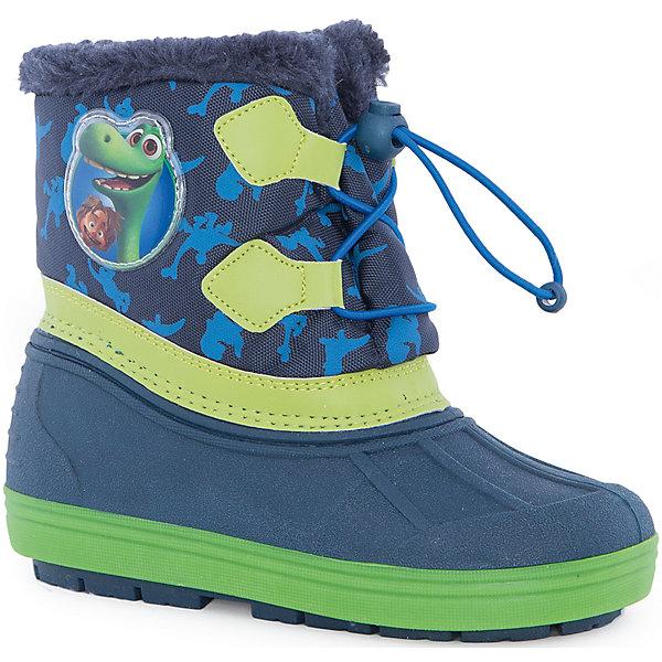 Сноубутсы Хороший динозавр для мальчика MursuСноубутсы<br>Сноубутсы для мальчика MURSU (Мурсу).<br><br>Характеристики:<br><br>• цвет: синий/зеленый<br>• температурный режим до -25С<br>• верхний материал: искуственные материалы, текстиль<br>• внутренний материал: натуральная шерсть, искусственый мех<br>• стелька: натуральная шерсть<br>• подошва: ТЭП<br>• утяжка по высоте сноубутсов<br>• сезон: зима<br><br>Сноубутсы MURSU созданы специально для любителей мультфильма Хороший Динозавр, ведь сбоку они украшены изображением веселых доисторических жителей. Меховая подкладка и стелька подарят комфорт и тепло во время прогулки. Модель имеет рифленую устойчивую подошву и меховой выступ по верху. Спереди сноубутсы утягиваются по толщине ноги. Прекрасный выбор для любителей длительных прогулок!<br><br>Сноубутсы для мальчика MURSU (Мурсу) вы можете приобрести в нашем интернет-магазине.<br>Ширина мм: 262; Глубина мм: 176; Высота мм: 97; Вес г: 427; Цвет: синий; Возраст от месяцев: 21; Возраст до месяцев: 24; Пол: Мужской; Возраст: Детский; Размер: 24,31,29,26,32,25,28,27,30; SKU: 4861742;