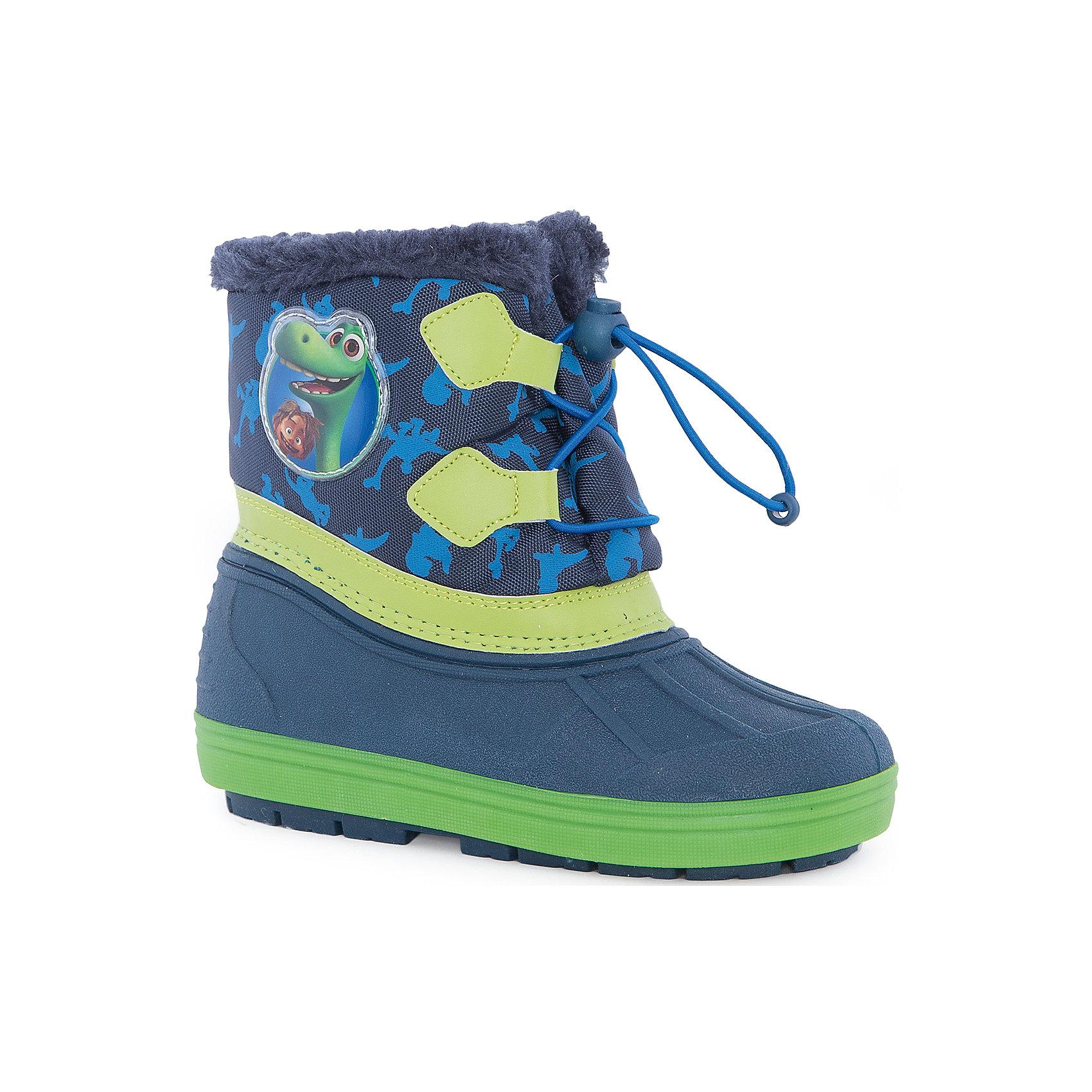 Сноубутсы Хороший динозавр для мальчика MursuСноубутсы<br>Сноубутсы для мальчика MURSU (Мурсу).<br><br>Характеристики:<br><br>• цвет: синий/зеленый<br>• температурный режим до -25С<br>• верхний материал: искуственные материалы, текстиль<br>• внутренний материал: натуральная шерсть, искусственый мех<br>• стелька: натуральная шерсть<br>• подошва: ТЭП<br>• утяжка по высоте сноубутсов<br>• сезон: зима<br><br>Сноубутсы MURSU созданы специально для любителей мультфильма Хороший Динозавр, ведь сбоку они украшены изображением веселых доисторических жителей. Меховая подкладка и стелька подарят комфорт и тепло во время прогулки. Модель имеет рифленую устойчивую подошву и меховой выступ по верху. Спереди сноубутсы утягиваются по толщине ноги. Прекрасный выбор для любителей длительных прогулок!<br><br>Сноубутсы для мальчика MURSU (Мурсу) вы можете приобрести в нашем интернет-магазине.<br><br>Ширина мм: 262<br>Глубина мм: 176<br>Высота мм: 97<br>Вес г: 427<br>Цвет: синий<br>Возраст от месяцев: 84<br>Возраст до месяцев: 96<br>Пол: Мужской<br>Возраст: Детский<br>Размер: 31,24,30,27,28,25,32,26,29<br>SKU: 4861742