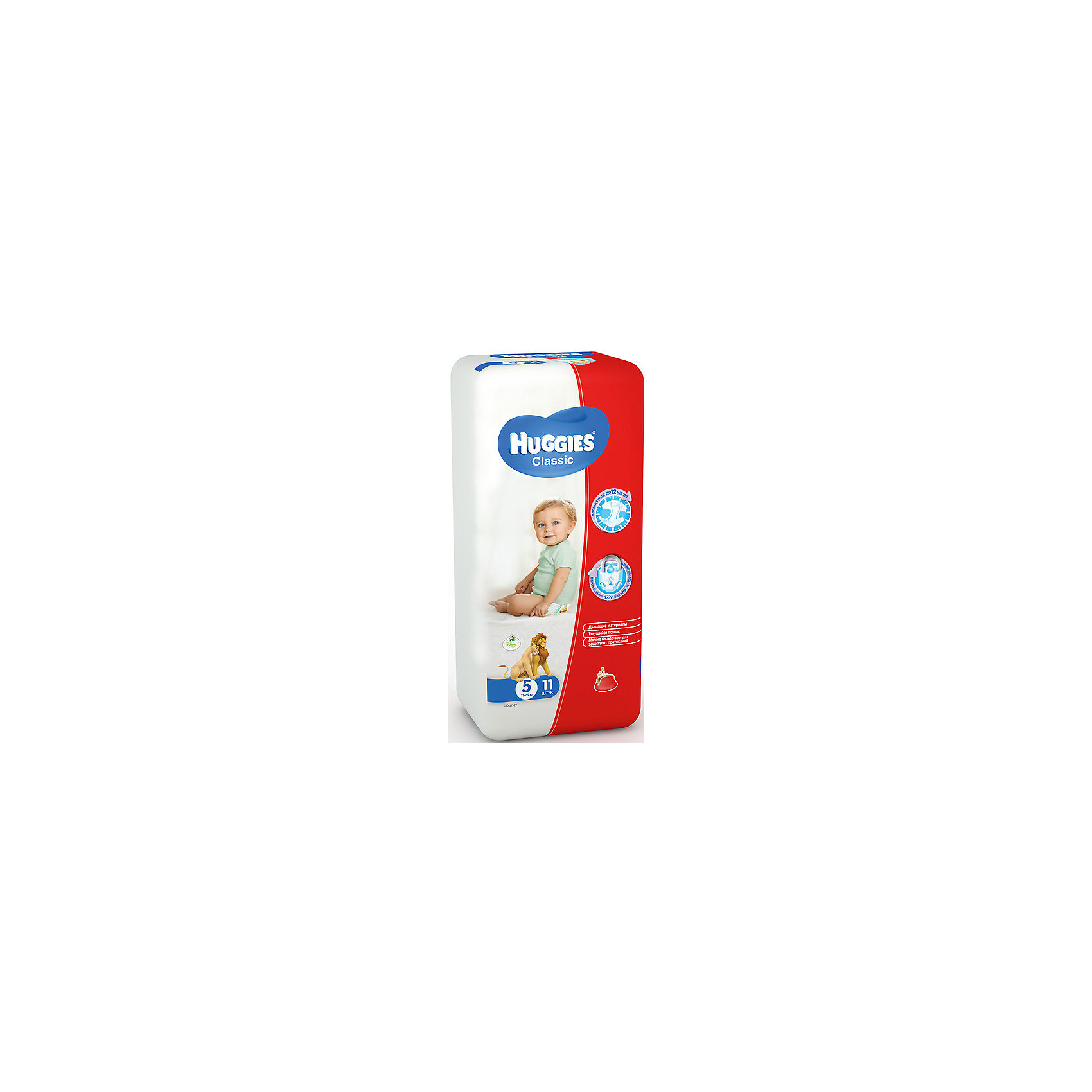 HUGGIES Подгузники Classic 5, 11-25 кг, 11шт., Huggies greenty подгузники greenty 5 13 кг 32 шт