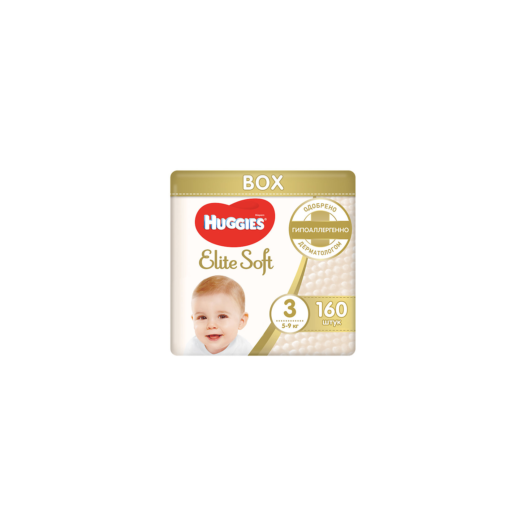 ���������� Elite Soft 3, 5-9 ��, 160 ��., Huggies (HUGGIES)
