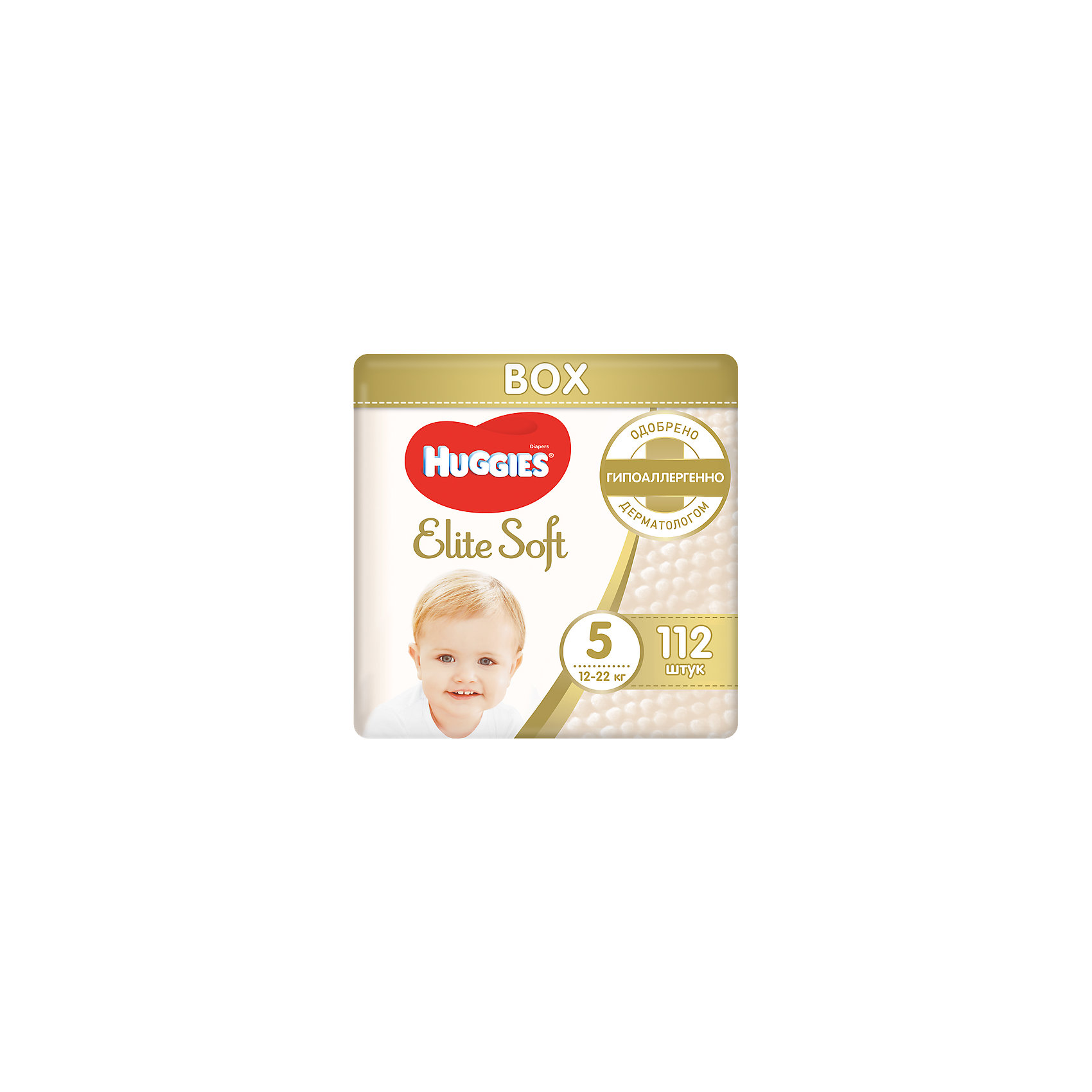 ���������� Elite Soft 5, 12-22 ��, 112 ��., Huggies (HUGGIES)