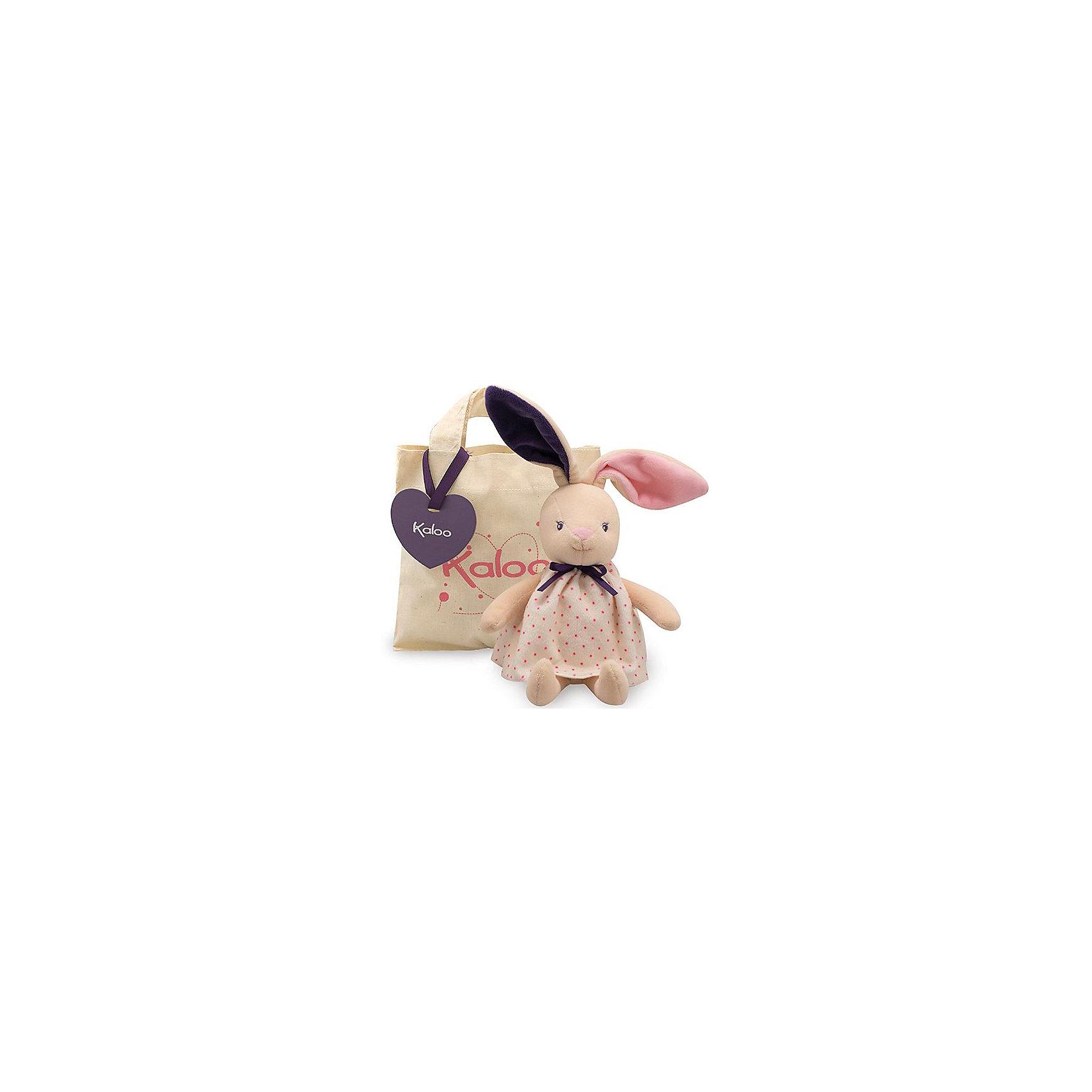 Заяц в сумочке, коллекция Розочка, KalooИгрушка Заяц в милом платье с бантиком станет любимой и интересной игрушкой для девочки. <br>В комплекте предусмотрена сумочка, для того чтобы ребенок никогда не расставался с любимым плющевым другом<br><br>Дополнительная информация:<br><br>-Материал: ткань, искусственный мех<br>-Высота игрушки: 28 см<br>-Вес: 0.3 кг<br>-Размер упаковки: 18х18 см<br><br>Зайца в сумочке, коллекции Розочка, Kaloo можно купить в нашем интернет-магазине.<br><br>Ширина мм: 200<br>Глубина мм: 40<br>Высота мм: 250<br>Вес г: 400<br>Возраст от месяцев: 0<br>Возраст до месяцев: 1188<br>Пол: Унисекс<br>Возраст: Детский<br>SKU: 4862348