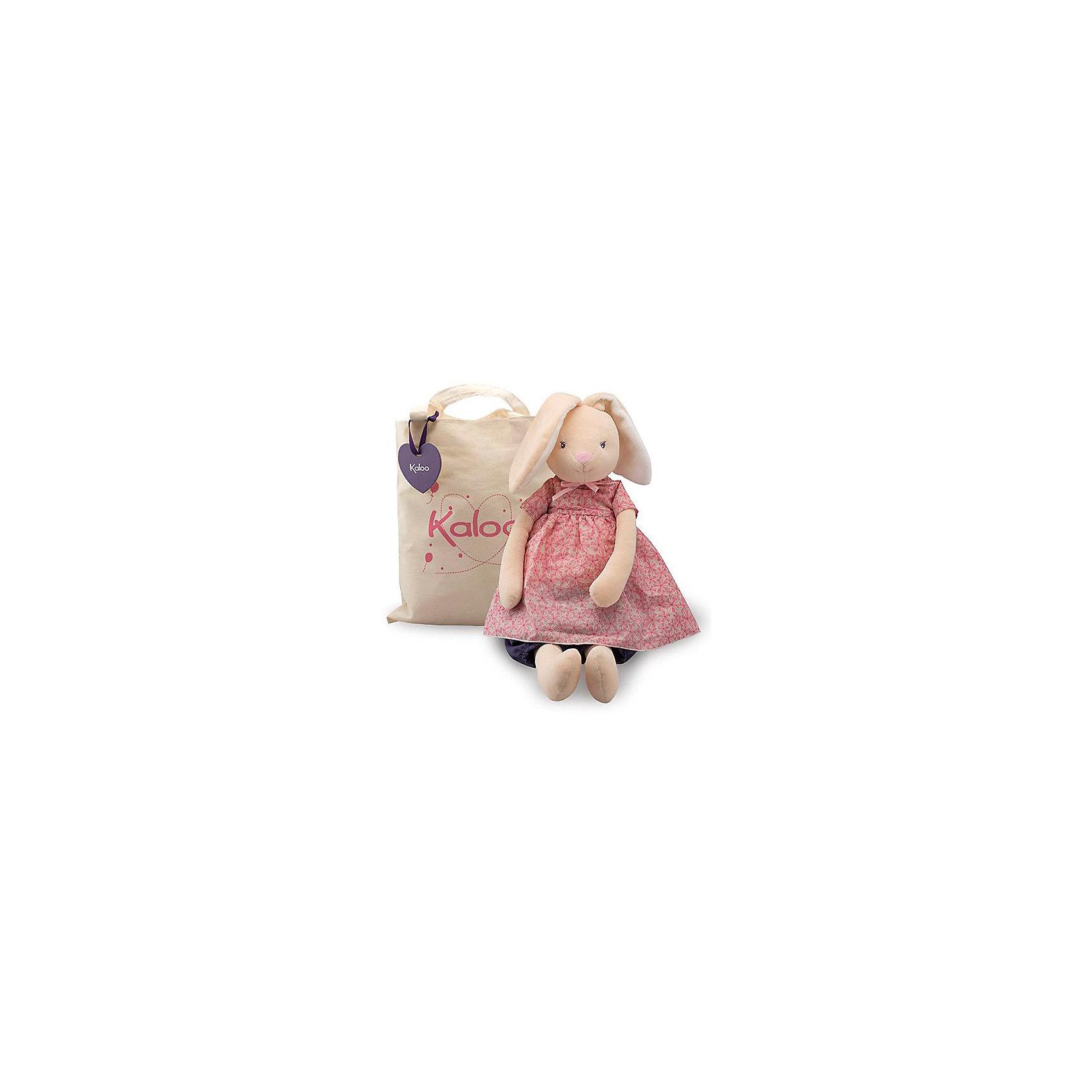 Заяц большой в сумочке, коллекция Розочка, 55 см, KalooПлюшевый заяц Kaloo в нарядном платье, непременно заинтересует вашего малыша и не позволит ему скучать. <br>Красивая сумка, входящая в комплект, позволяет брать игрушку с собой на прогулку и в путешествие.<br><br>Дополнительная информация:<br><br>-Материал: ткань, искусственный мех<br>-Высота игрушки: 55 см<br>-Вес: 0.3 кг<br>-Размер упаковки: 25х30 см<br><br>Большого зайца в сумочке, коллекции Розочка, 55 см, Kaloo можно купить в нашем интернет-магазине.<br><br>Ширина мм: 200<br>Глубина мм: 40<br>Высота мм: 250<br>Вес г: 400<br>Возраст от месяцев: 0<br>Возраст до месяцев: 1188<br>Пол: Унисекс<br>Возраст: Детский<br>SKU: 4862349