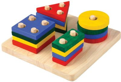 —ортер ƒоска — √еометрическими 'игурами , Plan Toys