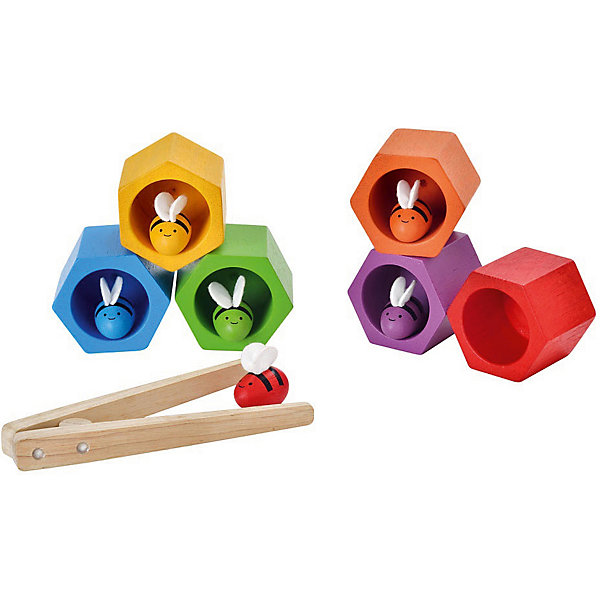 Игра Пчелки, Plan ToysПособия для обучения счёту<br>Игра Пчелки, от Plan Toys поможет развить вашему ребенку такие важные навыки, как хваткость и цепкость. Процесс игры заключается в помещение пчелы в нужный улей, при этом пчела не должна упасть. Перемещать пчелок можно пинцетом, либо более сложным методом: щипцами. Игра Пчелки способствует улучшению координации и концентрации, а также развивает способности к математике.<br><br>Дополнительная информация:<br><br>-Размер игры: 5 x 5.7 x 4.5 см<br>-Материал: дерево<br>-Вес: 0.54 кг<br>-Размер упаковки: 18.8 x 7.5 x 18.8 см<br><br>Игру Пчелки, Plan Toys можно купить в нашем интернет-магазине.<br>Ширина мм: 57; Глубина мм: 50; Высота мм: 45; Вес г: 400; Возраст от месяцев: 36; Возраст до месяцев: 1188; Пол: Унисекс; Возраст: Детский; SKU: 4862351;