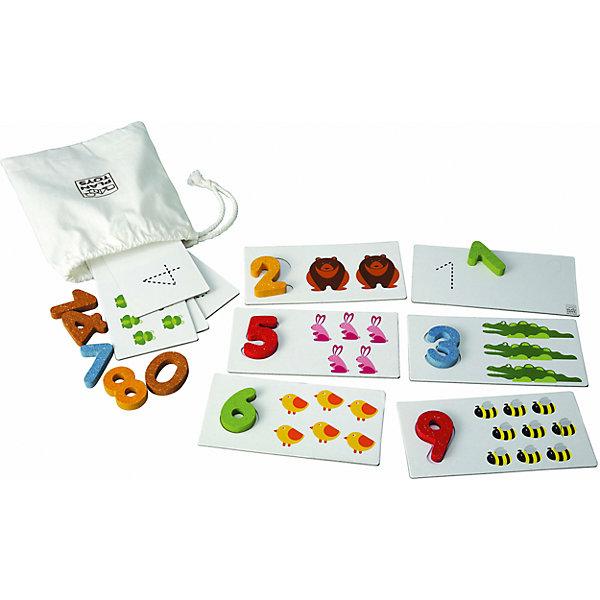 Игра Числа 1-10, Plan ToysПособия для обучения счёту<br>Игра Числа активируют логическое мышление, и учит детей основным навыкам счета. Игра состоит из деревянных чисел и карточек с изображением животных, на обратной стороне которых пунктиром обозначено их количество, чтобы дети могли научиться писать цифры. Фигурки с цифрами имеют удобный размер, чтобы ребенок смог правильно разложить их по карточкам. Взрослые могут играть в эту игру с детьми, чтобы помочь малышам найти правильный номер.<br><br>Дополнительная информация:<br><br>-Размер игры: 17.0 х 8.5 см<br>-Материал: дерево<br>-Размер упаковки: 18.8 x 5.7 x 18.8 см<br><br>Игру Числа 1-10, Plan Toys можно купить в нашем интернет-магазине.<br><br>Ширина мм: 188<br>Глубина мм: 57<br>Высота мм: 19<br>Вес г: 400<br>Возраст от месяцев: 36<br>Возраст до месяцев: 1188<br>Пол: Унисекс<br>Возраст: Детский<br>SKU: 4862354
