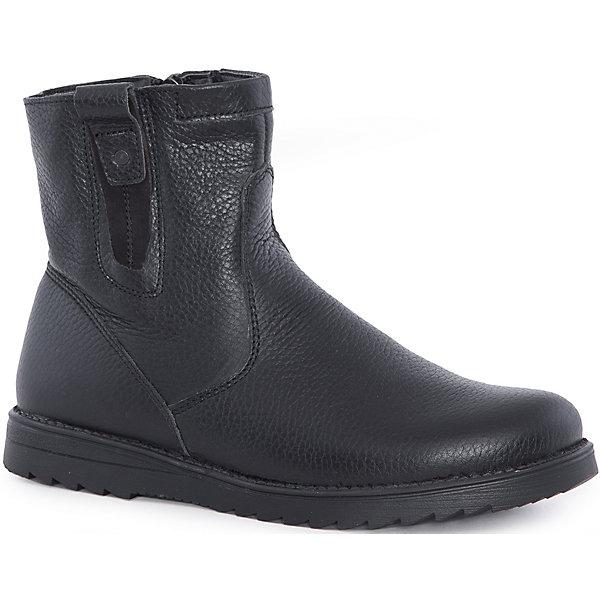 Ботинки для мальчика MursuОбувь<br>Ботинки для мальчика MURSU (Мурсу).<br><br>Характеристики:<br><br>• цвет: черный<br>• температурный режим до -25С<br>• материал верха: натуральная кожа <br>• внутренний материал: натуральная шерсть<br>• стелька: натуральная шерсть<br>• подошва: ТЭП<br>• застежка-молния сбоку <br>• сезон: зима<br><br>Легкие и практичные ботинки MURSU обеспечат тепло и комфорт во время прогулок. Ботинки застегиваются на молнию и имеют рифленую подошву, обладающую хорошей устойчивостью. Классические черные ботинки прекрасно сочетаются с любой одеждой.<br><br>Ботинки для мальчика MURSU (Мурсу) можно купить в нашем интернет-магазине.<br>Ширина мм: 262; Глубина мм: 176; Высота мм: 97; Вес г: 427; Цвет: черный; Возраст от месяцев: 96; Возраст до месяцев: 108; Пол: Мужской; Возраст: Детский; Размер: 32,36,34,33,35,37; SKU: 4862729;