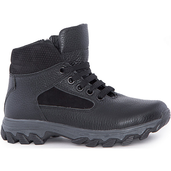 Ботинки для мальчика MursuОбувь<br>Ботинки для мальчика MURSU (Мурсу).<br><br>Характеристики:<br><br>• цвет: черный<br>• температурный режим до -25С<br>• материал верха: натуральная кожа<br>• внутренний материал: натуральная шерсть<br>• стелька: шерсть<br>застежка-молния сбоку, шнурки<br>• сезон: зима<br><br>Удобные ботинки MURSU сохранят тепло и подарят комфорт на протяжении всей прогулки. Они изготовлены из натуральной кожи с подкладкой из шерсти. Рифленая подошва обеспечит устойчивость на сколькой дороге. Ботинки застегиваются на молнию сбоку и имеют шнуровку по толщине ноги спереди. Легкие удобные ботинки - отличный выбор для зимних прогулок!<br><br>Ботинки для мальчика MURSU (Мурсу) вы можете купить в нашем интернет-магазине.<br>Ширина мм: 262; Глубина мм: 176; Высота мм: 97; Вес г: 427; Цвет: черный; Возраст от месяцев: 96; Возраст до месяцев: 108; Пол: Мужской; Возраст: Детский; Размер: 32,36,35,37,33,34; SKU: 4862736;