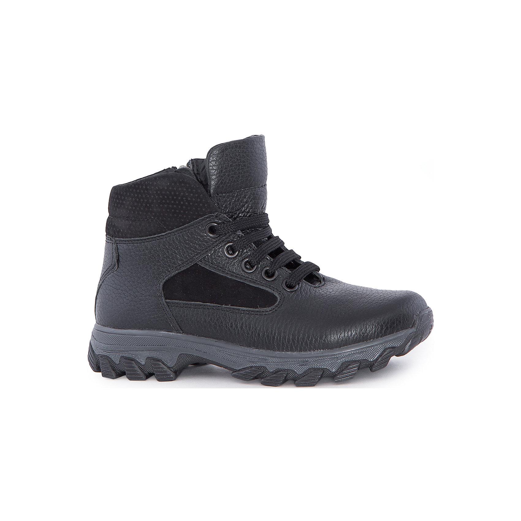 Ботинки для мальчика MursuОбувь<br>Ботинки для мальчика MURSU (Мурсу).<br><br>Характеристики:<br><br>• цвет: черный<br>• температурный режим до -25С<br>• материал верха: натуральная кожа<br>• внутренний материал: натуральная шерсть<br>• стелька: шерсть<br>застежка-молния сбоку, шнурки<br>• сезон: зима<br><br>Удобные ботинки MURSU сохранят тепло и подарят комфорт на протяжении всей прогулки. Они изготовлены из натуральной кожи с подкладкой из шерсти. Рифленая подошва обеспечит устойчивость на сколькой дороге. Ботинки застегиваются на молнию сбоку и имеют шнуровку по толщине ноги спереди. Легкие удобные ботинки - отличный выбор для зимних прогулок!<br><br>Ботинки для мальчика MURSU (Мурсу) вы можете купить в нашем интернет-магазине.<br><br>Ширина мм: 262<br>Глубина мм: 176<br>Высота мм: 97<br>Вес г: 427<br>Цвет: черный<br>Возраст от месяцев: 132<br>Возраст до месяцев: 144<br>Пол: Мужской<br>Возраст: Детский<br>Размер: 35,32,36,34,33,37<br>SKU: 4862736