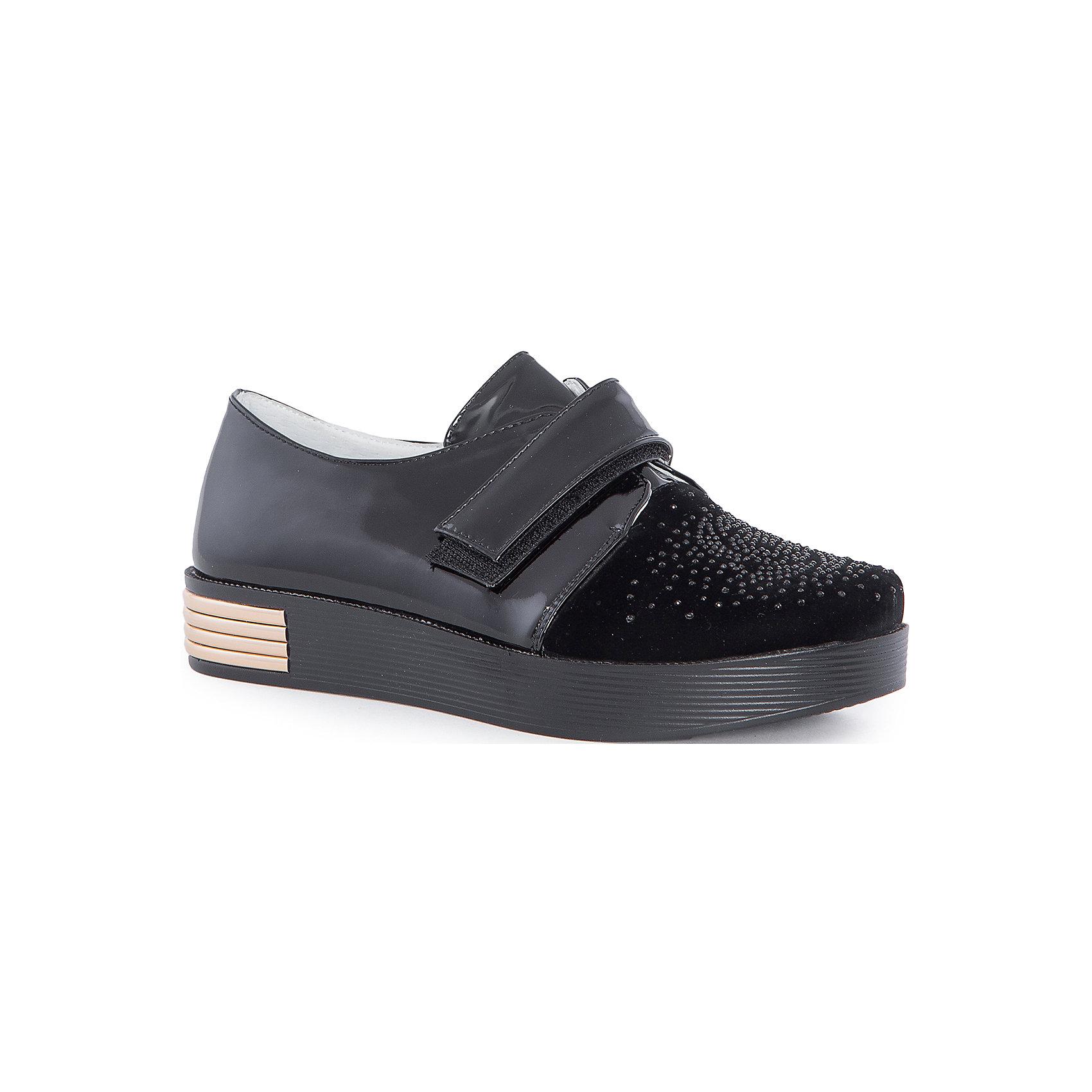 Полуботинки для девочки MursuОбувь<br>Полуботинки для девочки MURSU (Мурсу).<br><br>Характеристики: <br><br>• цвет: черный<br>• нарядная обувь, школьная обувь, повседневная обувь<br>• материал: искусственная кожа<br>• подкладка: натуральная кожа<br>• стелька: натуральная кожа<br>• подошва: ТЭП<br>• застежка-липучка<br><br>Ботинки MURSU изготовлены из натуральной высококачественной кожи. Они застегиваются на липучку спереди. Плотная высокая подошва обеспечит удобство во время ношения. Черная расцветка с золотой вставкой хорошо сочетается с любой верхней одеждой. Стильные удобные полуботинки - прекрасный выбор для прогулок!<br><br>Полуботинки для девочки MURSU (Мурсу) можно приобрести в нашем интернет-магазине.<br><br>Ширина мм: 262<br>Глубина мм: 176<br>Высота мм: 97<br>Вес г: 427<br>Цвет: черный<br>Возраст от месяцев: 144<br>Возраст до месяцев: 156<br>Пол: Женский<br>Возраст: Детский<br>Размер: 36,35,33,34,37<br>SKU: 4862804