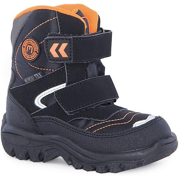 Ботинки для мальчика MursuОбувь<br>Ботинки для мальчика Mursu (Мурсу).<br><br>Характеристики:<br><br>• цвет: черный/оранжевый<br>• температурный режим до -25С<br>• материал верха: искусственная кожа, текстиль<br>• внутренний материал: шерсть мех, мембрана<br>• стелька: шерсть<br>• подошва: ТЭП<br>• две застежки-липучки<br>• цвет: черный<br><br>Ботинки Mursu изготовлены из прочной искусственной кожи и текстиля. Подкладка из меха и мембрана обеспечат ребенку тепло и сухость. Ботиночки имеют рифленую устойчивую подошву и две застежки-липучки спереди. Яркий цвет подкладки и вставок на липучках обязательно понравится ребенку.<br><br>Ботинки для мальчика Mursu (Мурсу) можно купить в нашем интернет-магазине.<br>Ширина мм: 262; Глубина мм: 176; Высота мм: 97; Вес г: 427; Цвет: черный; Возраст от месяцев: 21; Возраст до месяцев: 24; Пол: Мужской; Возраст: Детский; Размер: 23,25,26,28,27,24; SKU: 4863029;