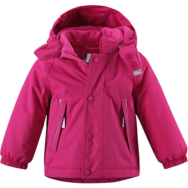 Куртка ReimaОдежда<br>Куртка Reima (Рейма), малиновый от известного финского производителя  детской одежды Reima. Зимняя куртка выполнена полиамида, что обеспечивает высокую износоустойчивость, водооталкивающие,  грязеотталкивающие и ветрозащитные свойства. Изделие устойчиво к изменению формы и цвета даже при длительном использовании. Куртка имеет классическую форму: прямой силуэт с удлиненной спинкой, воротник-стойка, застежка-молния с защитой у подбородка, капюшон, рукава на резинках и боковые карманы на молнии. Изделие имеет среднюю степень утепления, можно носить при температуре до -20 градусов мороза.<br><br>Дополнительная информация:<br><br>- Предназначение: повседневная одежда для прогулок и активного отдыха<br>- Цвет: малиновый<br>- Пол: для девочки<br>- Состав: 100% полиамид<br>- Сезон: зима<br>- Особенности ухода: стирать изделие, предварительно вывернув его на левую сторону, не использовать отбеливающие вещества<br><br>Подробнее:<br><br>• Для детей в возрасте: от 6 месяцев и до 9 месяцев<br>• Страна производитель: Китай<br>• Торговый бренд: Reima, Финляндия<br><br>Куртку Reima (Рейма), малиновый можно купить в нашем интернет-магазине.<br><br>Ширина мм: 356<br>Глубина мм: 10<br>Высота мм: 245<br>Вес г: 519<br>Возраст от месяцев: 6<br>Возраст до месяцев: 9<br>Пол: Женский<br>Возраст: Детский<br>Размер: 74<br>SKU: 4863914