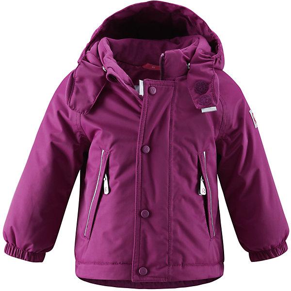 Куртка ReimaОдежда<br>Куртка Reima (Рейма), фиолетовый от известного финского производителя  детской одежды Reima. Зимняя куртка выполнена полиэстера, что обеспечивает высокую износоустойчивость, водооталкивающие,  грязеотталкивающие и ветрозащитные свойства. Изделие устойчиво к изменению формы и цвета даже при длительном использовании. Куртка имеет классическую форму: прямой силуэт с удлиненной спинкой, воротник-стойка, застежка-молния с защитой у подбородка, капюшон с отделкой из искусственного меха, рукава на резинках. Изделие имеет  среднюю степень утепления, можно носить при температуре до -20 градусов мороза.<br><br>Дополнительная информация:<br><br>- Предназначение: повседневная одежда для прогулок и активного отдыха<br>- Цвет: фиолетовый<br>- Пол: для девочки<br>- Состав: 100% полиэстер<br>- Сезон: зима<br>- Особенности ухода: стирать изделие, предварительно вывернув его на левую сторону, не использовать отбеливающие вещества<br><br>Подробнее:<br><br>• Для детей в возрасте: от 6 месяцев и до 9 месяцев<br>• Страна производитель: Китай<br>• Торговый бренд: Reima, Финляндия<br><br>Куртку Reima (Рейма), фиолетовый можно купить в нашем интернет-магазине.<br><br>Ширина мм: 356<br>Глубина мм: 10<br>Высота мм: 245<br>Вес г: 519<br>Возраст от месяцев: 6<br>Возраст до месяцев: 9<br>Пол: Женский<br>Возраст: Детский<br>Размер: 74<br>SKU: 4863916