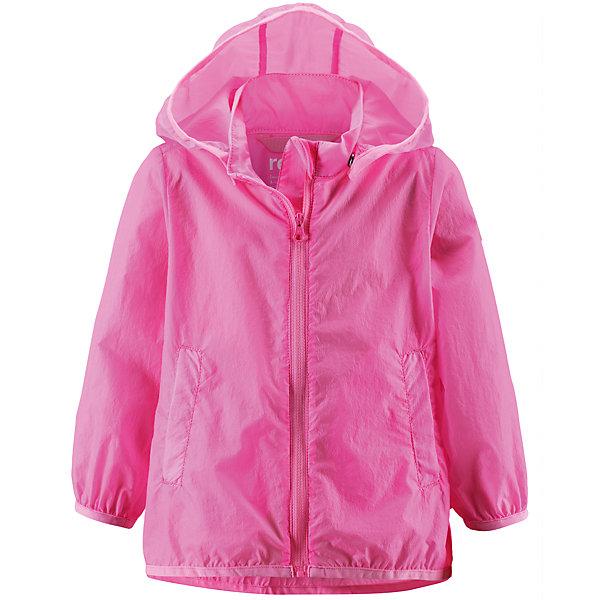 Куртка ReimaОдежда<br>Куртка Reima (Рейма), розовый от известного финского производителя  детской одежды Reima. Легкая куртка для девочки выполнена из полиамида, который обладает высокой износоустойчивостью, воздухопроницаемыми, водооталкивающими и грязеотталкивающими свойствами. Изделие устойчиво к изменению формы и цвета даже при длительном использовании. Куртка имеет классическую форму: прямой силуэт с удлиненной спинкой, застежка-молния с защитой у подбородка, капюшон, боковые втачные карманы и окантовка на рукавах и по низу изделия. Куртка имеет полиуретановое покрытие, что делает ее непромокаемой даже в дождливую погоду.    <br><br>Дополнительная информация:<br><br>- Предназначение: повседневная одежда для прогулок и активного отдыха<br>- Цвет: розовый<br>- Пол: для девочки<br>- Состав: 100% полиамид, полиуретановое покрытие<br>- Сезон: весна-осень<br>- Особенности ухода: стирать изделие, предварительно вывернув его на левую сторону, не использовать отбеливающие вещества<br><br>Подробнее:<br><br>• Для детей в возрасте: от 2 лет и до 3 лет<br>• Страна производитель: Китай<br>• Торговый бренд: Reima, Финляндия<br><br>Куртку Reima (Рейма), розовый можно купить в нашем интернет-магазине.<br><br>Ширина мм: 356<br>Глубина мм: 10<br>Высота мм: 245<br>Вес г: 519<br>Возраст от месяцев: 24<br>Возраст до месяцев: 36<br>Пол: Женский<br>Возраст: Детский<br>Размер: 98,86,92<br>SKU: 4863924
