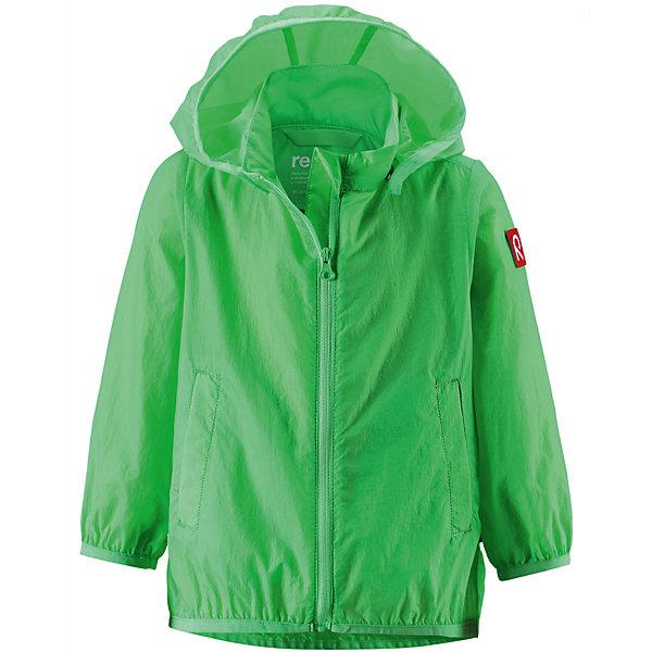 Куртка ReimaВерхняя одежда<br>Куртка Reima (Рейма), зеленый от известного финского производителя  детской одежды Reima. Куртка-ветровка выполнена из полиамида, который обладает высокой износоустойчивостью, воздухопроницаемыми, водооталкивающими и грязеотталкивающими свойствами. Изделие устойчиво к изменению формы и цвета даже при длительном использовании. Куртка имеет классическую форму: прямой силуэт с чуть присборенным эластичным кантом низом, кант повторяется на рукавах и капюшоне, воротник-стойка, застежка-молния с защитой у подбородка и 2 боковых прорезных кармана. Куртка имеет полиуретановое покрытие, что делает ее непромокаемой даже в дождливую погоду. Куртка идеально подходит для весенних и осенних прогулок.<br><br>Дополнительная информация:<br><br>- Предназначение: повседневная одежда для прогулок и активного отдыха<br>- Цвет: зеленый<br>- Пол: для мальчика<br>- Состав: 100% полиамид, полиуретановое покрытие<br>- Сезон: весна-осень (демисезонная)<br>- Особенности ухода: стирать изделие, предварительно вывернув его на левую сторону, не использовать отбеливающие вещества<br><br>Подробнее:<br><br>• Для детей в возрасте: от 2 лет и до 3 лет<br>• Страна производитель: Китай<br>• Торговый бренд: Reima, Финляндия<br><br>Куртку Reima (Рейма), зеленый можно купить в нашем интернет-магазине.<br><br>Ширина мм: 356<br>Глубина мм: 10<br>Высота мм: 245<br>Вес г: 519<br>Возраст от месяцев: 12<br>Возраст до месяцев: 18<br>Пол: Унисекс<br>Возраст: Детский<br>Размер: 92,86,98<br>SKU: 4863932
