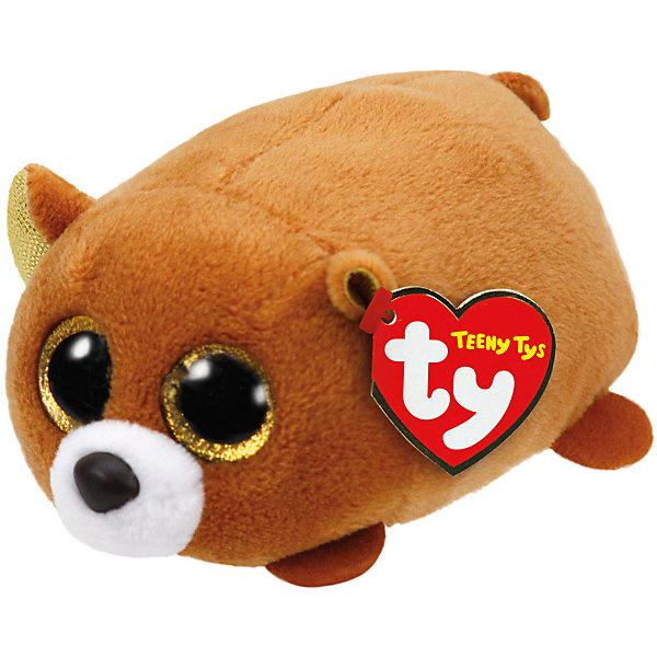Мягкая игрушка Бурый медведь, Teeny Tys, TyМягкие игрушки животные<br>Мягкая игрушка Бурый медведь, Teeny Tys, Ty (Тай)<br><br>Характеристики:<br><br>• мягкий и приятный на ощупь<br>• внутри находятся специальные гранулы для развития тактильных навыков<br>• способствует развитию мелкой моторики<br>• удобно взять с собой<br>• материал: искусственный мех, текстиль, пластик<br>• изготовлена из безопасных материалов<br>• наполнитель: синтепон<br>• размер игрушки: 10 см<br><br>Любители мягких игрушек будут очень рады маленькому медвежонку. Его шерстка очень мягкая, а добрый выразительный взгляд  вселяет внутреннее ощущение спокойствия. Игрушка изготовлена из безопасных материалов. Внутри нее находятся специальные гранулы, способствующие развитию тактильных навыков и мелкой моторики. Благодаря миниатюрному размеру, игрушка подходит для того, чтобы взять ее в гости или на прогулку.<br><br>Мягкую игрушку Бурый медведь, Teeny Tys, Ty (Тай) можно купить в нашем интернет-магазине.<br><br>Ширина мм: 103<br>Глубина мм: 60<br>Высота мм: 55<br>Вес г: 41<br>Возраст от месяцев: 12<br>Возраст до месяцев: 60<br>Пол: Унисекс<br>Возраст: Детский<br>SKU: 4864484