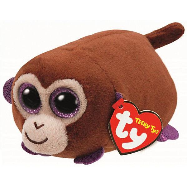Мягкая игрушка Обезьянка, Teeny Tys, TyМягкие игрушки животные<br>Мягкая игрушка Обезьянка, Teeny Tys, Ty (Тай)<br><br>Характеристики:<br><br>• мягкий и приятный на ощупь<br>• внутри находятся специальные гранулы для развития тактильных навыков<br>• способствует развитию мелкой моторики<br>• удобно взять с собой<br>• материал: плюш, текстиль, пластик<br>• изготовлена из безопасных материалов<br>• наполнитель: синтепон<br>• размер игрушки: 10 см<br><br>Маленькая обезьянка от Ty станет лучшим другом вашего малыша. Большие блестящие глаза и мягкая плюшевая шерстка не оставят ребенка равнодушным! Внутри обезьянки находятся специальные гранулы, помогающие развить моторику и тактильные навыки. Игрушка изготовлена из безопасных для ребенка материалов.<br><br>Мягкую игрушку Обезьянка, Teeny Tys, Ty (Тай) вы можете купить в нашем интернет-магазине.<br>Ширина мм: 110; Глубина мм: 57; Высота мм: 58; Вес г: 43; Возраст от месяцев: 12; Возраст до месяцев: 60; Пол: Унисекс; Возраст: Детский; SKU: 4864485;