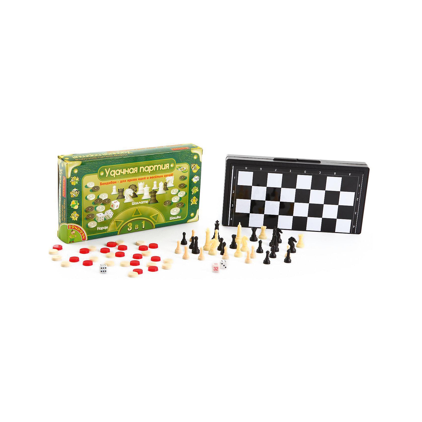 Набор 3в1 Нарды, шашки, шахматы арт, 25 см, BondibonНастольные игры<br>Этот набор поможет Вам весело провести время со своими друзьями и близкими. В комплект включены сразу три известные игры – шашки, шахматы и нарды. Игра имеет компактный размер, ее будет удобно взять на дачу или скоротать длинную дорогу в поезде. Все элементы игры имеют магнитную основу, благодаря чему надежно крепятся к игровому полю.<br><br>Дополнительная информация:<br><br>- Возраст: от 5 лет<br>- В комплекте: игровое поле, шашки, фишки, шахматные фигуры, игровые кости<br>- Материал: пластик<br>- Размер упаковки: 3х25х13 см<br>- Вес: 0.38 кг<br><br>Набор 3в1 Нарды, шашки, шахматы арт, 25 см, Bondibon можно купить в нашем интернет-магазине.<br><br>Ширина мм: 35<br>Глубина мм: 250<br>Высота мм: 130<br>Вес г: 384<br>Возраст от месяцев: 72<br>Возраст до месяцев: 1188<br>Пол: Унисекс<br>Возраст: Детский<br>SKU: 4864491