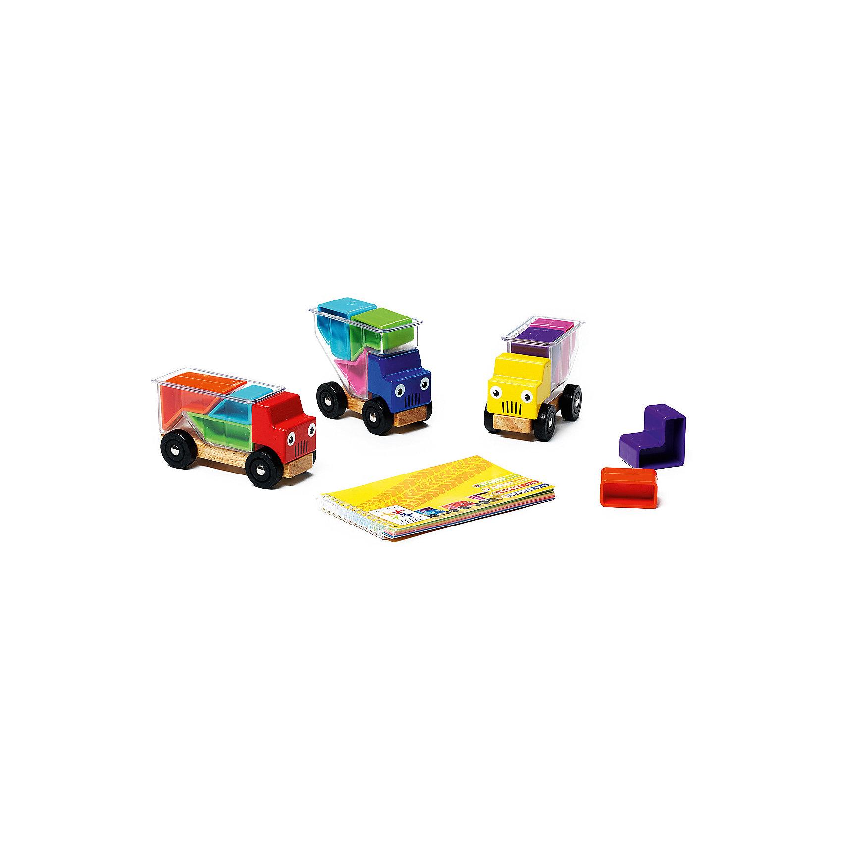 Логическая игра Грузовички, BondibonСтратегические настольные игры<br>Суть логической игры Грузовички заключается в том, чтобы загрузить в прозрачный кузов машины разноцветные детали-формочки. Детям предстоит выполнить 48 увлекательных заданий различной сложности, погружая детали таким образом, чтобы они не выступали за края кузова.<br><br>Дополнительная информация:<br><br>- Возраст: от 3 лет<br>- В комплекте: 3 грузовичка, детали различной формы, инструкция<br>- Материал: пластик<br>- Размер упаковки: 24х6х24 см<br>- Вес: 0.83 кг<br><br>Логическую игру Грузовички, Bondibon можно купить в нашем интернет-магазине.<br><br>Ширина мм: 240<br>Глубина мм: 62<br>Высота мм: 240<br>Вес г: 833<br>Возраст от месяцев: 36<br>Возраст до месяцев: 108<br>Пол: Унисекс<br>Возраст: Детский<br>SKU: 4864495