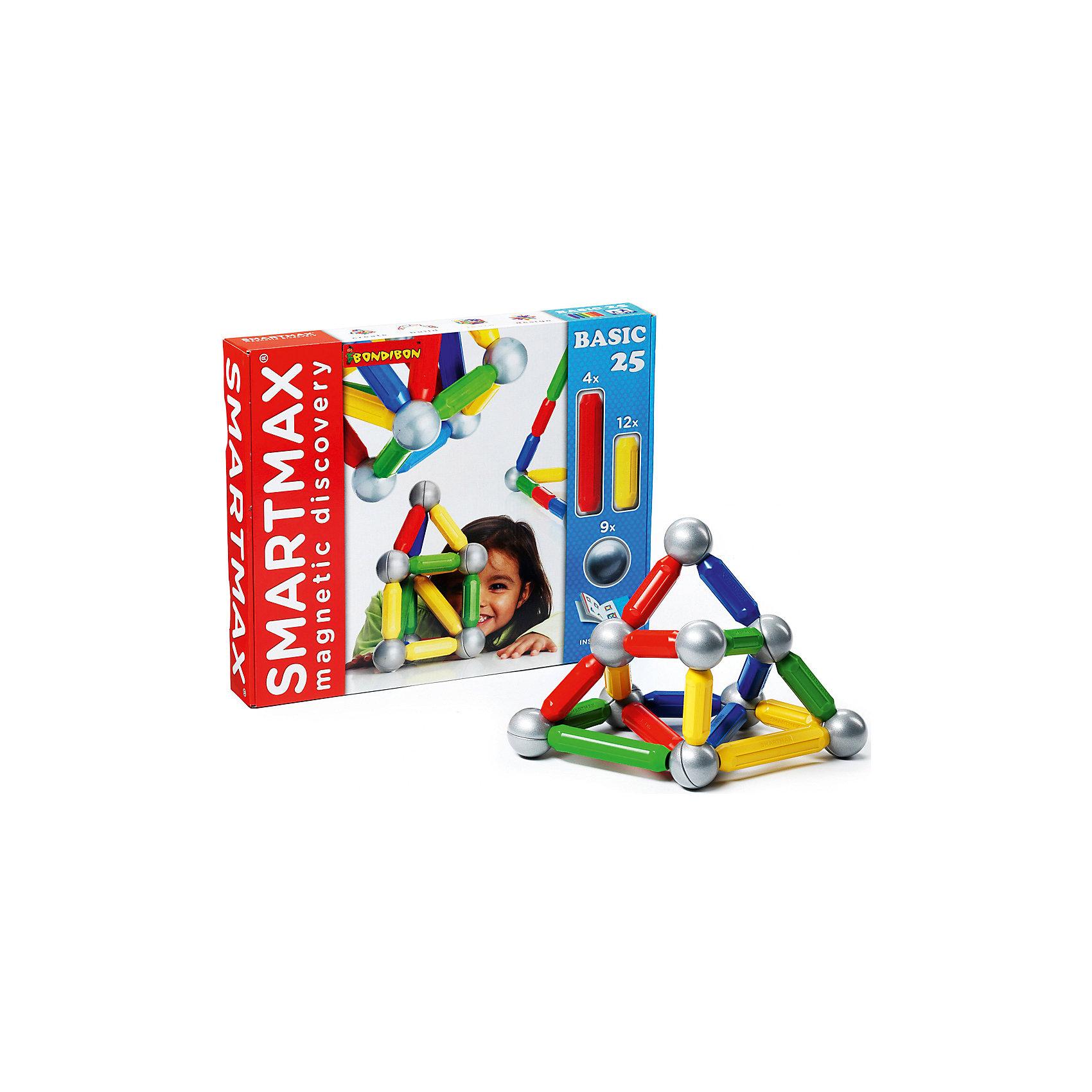 Магнитный конструктор Basic, 25 деталей, BondibonМагнитный конструктор Basic подарит Вашему малышу огромное поле для творчества, ведь с его помощью можно сложить самые невероятные конструкции. Детали конструктора выполнены в виде разноцветных палочек и шаров, внутри которых находятся магниты. Их свойства притягиваться и отталкиваться вызовут огромный интерес у детей, и дадут огромный простор для фантазий и экспериментов.<br><br>Дополнительная информация:<br><br>- Возраст: от 3 лет<br>- В комплекте: 16 разноцветных палочек, 9 серебристых шариков, инструкция<br>- Материал: пластик, магнит, металл<br>- Размер упаковки: 42х6х35 см<br>- Вес: 1.13 кг<br><br>Магнитный конструктор Basic, 25 деталей, Bondibon можно купить в нашем интернет-магазине.<br><br>Ширина мм: 425<br>Глубина мм: 60<br>Высота мм: 353<br>Вес г: 1130<br>Возраст от месяцев: 12<br>Возраст до месяцев: 144<br>Пол: Унисекс<br>Возраст: Детский<br>SKU: 4864496