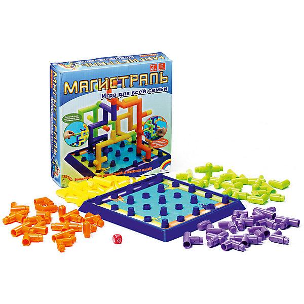 Настольная игра Магистраль (3Д игра), BondibonСтратегические настольные игры<br>Веселая логическая и стратегическая игра Магистраль порадует детей и взрослых. Задача игры: соединить элементы труб и протянуть магистраль до противоположной стороны игрового поля. Детали имеют разную форму, и придется размышлять, как быстрее завершить строительство, чтобы обогнать конкурентов. Кто первый достроит свою конструкцию, становится победителем.<br><br>Дополнительная информация:<br><br>- Возраст: от 5 лет<br>- В комплекте: игровое поле, 64 элемента для построения магистрали, кубик, инструкция<br>- Материал: пластик<br>- Размер упаковки: 27х6х27 см<br>- Вес: 0.68 кг<br><br>Настольную игру Магистраль (3Д игра), Bondibon можно купить в нашем интернет-магазине.<br>Ширина мм: 270; Глубина мм: 65; Высота мм: 270; Вес г: 684; Возраст от месяцев: 48; Возраст до месяцев: 1188; Пол: Унисекс; Возраст: Детский; SKU: 4864507;