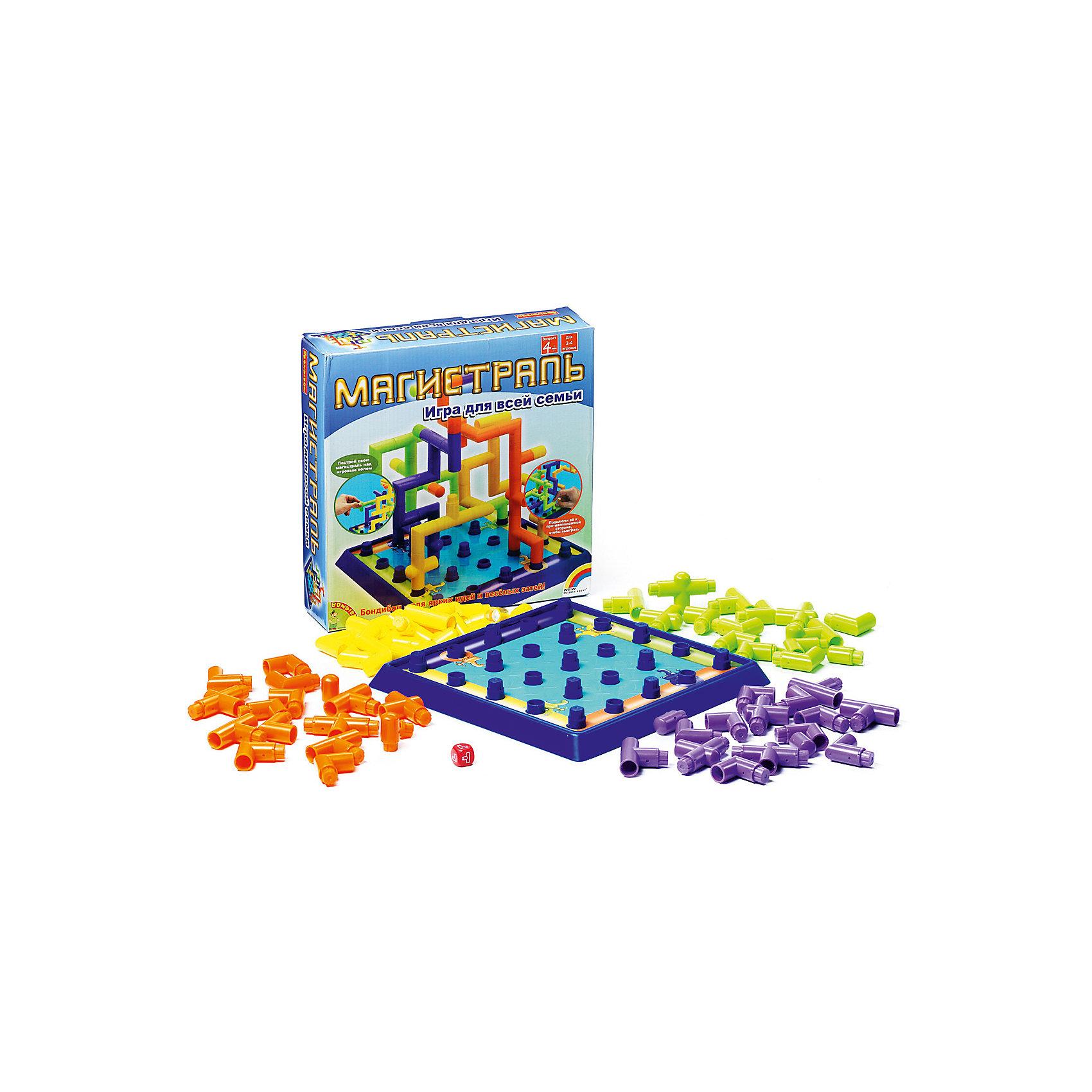 Настольная игра Магистраль (3Д игра), BondibonВеселая логическая и стратегическая игра Магистраль порадует детей и взрослых. Задача игры: соединить элементы труб и протянуть магистраль до противоположной стороны игрового поля. Детали имеют разную форму, и придется размышлять, как быстрее завершить строительство, чтобы обогнать конкурентов. Кто первый достроит свою конструкцию, становится победителем.<br><br>Дополнительная информация:<br><br>- Возраст: от 5 лет<br>- В комплекте: игровое поле, 64 элемента для построения магистрали, кубик, инструкция<br>- Материал: пластик<br>- Размер упаковки: 27х6х27 см<br>- Вес: 0.68 кг<br><br>Настольную игру Магистраль (3Д игра), Bondibon можно купить в нашем интернет-магазине.<br><br>Ширина мм: 270<br>Глубина мм: 65<br>Высота мм: 270<br>Вес г: 684<br>Возраст от месяцев: 48<br>Возраст до месяцев: 1188<br>Пол: Унисекс<br>Возраст: Детский<br>SKU: 4864507