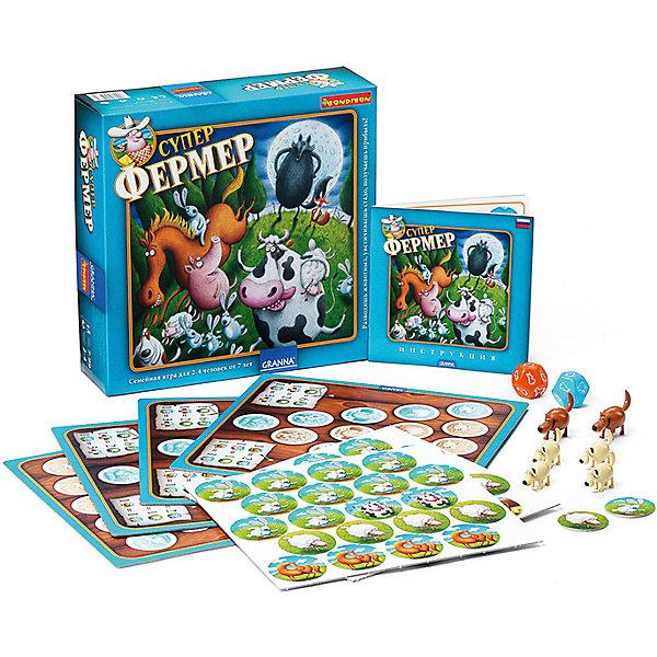 Настольная игра Супер Фермер Люкс, BondibonСтратегические настольные игры<br>Увлекательная игра Супер Фермер Люкс позволит не только весело провести время, но и проверить свои математические навыки. Каждому участнику предстоит заниматься разведением домашних животных, а также охранять ферму от нападения лисы и волка. Эта экономическая игра основана на математических правилах, в которой предстоит делать подсчеты и оценивать риски. Все эти навыки обязательно пригодятся в дальнейшей жизни.<br><br>Дополнительная информация:<br><br>- Возраст: от 7 лет<br>- В комплекте: игровое поле, карточки животных, 2 кубика, фигурки собак, инструкция<br>- Материал: пластик, картон<br>- Размер упаковки: 19х7х19 см<br>- Вес: 1.21 кг<br><br>Настольную игру Супер Фермер Люкс, Bondibon можно купить в нашем интернет-магазине.<br>Ширина мм: 190; Глубина мм: 70; Высота мм: 190; Вес г: 1215; Возраст от месяцев: 84; Возраст до месяцев: 1188; Пол: Унисекс; Возраст: Детский; SKU: 4864510;