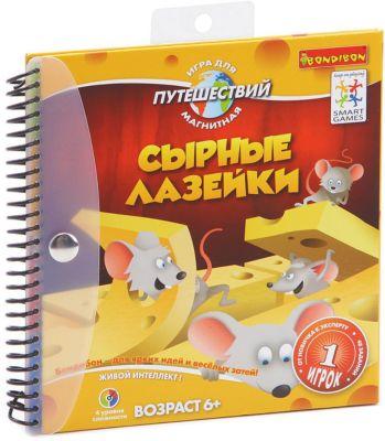 Магнитная логическая игра для путешествий Сырные лазейки , Bondibon