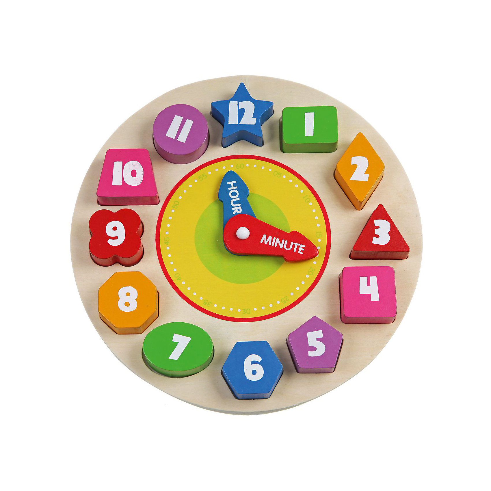 Деревянная рамка-вкладыш Часы, BondibonДеревянные игры и пазлы<br>Деревянная рамка Часы создана для развития моторики и логического мышления у детей. Разноцветные часы имеют специальные отверстия, в которых нужно расположить цифры в правильной последовательности. Такая игра поможет выучить ребенку названия геометрических фигур и цветов. К тому же в дальнейшем родители смогут научить его правильно определять время.<br><br>Дополнительная информация:<br><br>- Возраст: от 18 месяцев<br>- В комплекте: деревянная рамка со стрелками, 12 геометрических фигур<br>- Материал: дерево, пластик<br>- Размер упаковки: 23х4х23 см<br>- Вес: 0.22 кг<br><br>Деревянную рамку-вкладыш Часы, Bondibon можно купить в нашем интернет-магазине.<br><br>Ширина мм: 230<br>Глубина мм: 40<br>Высота мм: 230<br>Вес г: 225<br>Возраст от месяцев: 180<br>Возраст до месяцев: 36<br>Пол: Унисекс<br>Возраст: Детский<br>SKU: 4864528