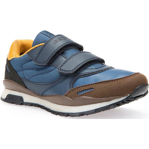 Кроссовки для мальчика GEOXКроссовки<br>Кроссовки для мальчика GEOX.<br>Кроссовки от GEOX (ГЕОКС) выполнены из искусственной кожи, внутренняя отделка из текстиля, стелька из натуральной кожи.  Застежки-липучки надежно фиксируют обувь на ногах, облегчая снятие и надевание. Колодка соответствует анатомическим особенностям строения детской стопы. Качественная амортизация снижает нагрузку на суставы. Запатентованная гибкая перфорированная подошва со специальной микропористой мембраной обеспечивает естественное дыхание обуви. Ноги остаются сухими в течение всего дня.<br><br>Дополнительная информация:<br><br>- Сезон:повседневная;<br>- Цвет:  синий, коричневый;<br>- Материал верха: 67% синтетический материал, 33% текстиль;<br>- Внутренний материал: 82% текстиль, 18% синтетический материал;<br>- Материал стельки: 100% натуральная кожа;<br>- Материал подошвы: 100 % резина;<br>- Тип застежки: липучка;<br>- Материалы и продукция прошли сертификацию T?V S?D, на отсутствие веществ, опасных для здоровья покупателей.<br><br>Кроссовки для мальчика GEOX (ГЕОКС) можно купить в нашем интернет-магазине.<br>Ширина мм: 250; Глубина мм: 150; Высота мм: 150; Вес г: 250; Цвет: голубой; Возраст от месяцев: 96; Возраст до месяцев: 108; Пол: Мужской; Возраст: Детский; Размер: 32,37,36,38,31,33,30,27,35,34,28,29; SKU: 4864826;