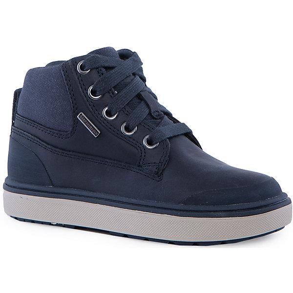 Ботинки для мальчика GEOXБотинки<br>Ботинки для мальчика GEOX (ГЕОКС)<br>Ботинки для мальчика от GEOX (ГЕОКС) выполнены из натуральной кожи. Модель имеет теплую подкладку и войлочную стельку с изоляционным алюминиевым слоем, что улучшается тепловое сопротивление в холодных условиях, повышая температуру внутри обуви. Влага не застаивается в обуви, благодаря чему создается идеальный микроклимат, который держит ноги теплыми и сухими, и позволяет им дышать естественно. Тип застежки шнуровка, также модель застёгивается на удобную боковую молнию, которая фиксируется небольшой липучкой. Колодка соответствует анатомическим особенностям строения детской стопы. Качественная амортизация снижает нагрузку на суставы. Легкая подошва из ЭВА с микропористой мембраной обеспечивает естественное дыхание обуви, не пропускает воду.<br><br>Дополнительная информация:<br><br>- Сезон: демисезон<br>- Цвет: синий<br>- Состав: натуральная кожа 60%, синтетический материал 40%<br>- Материал верха: натуральная кожа<br>- Внутренний материал: текстиль<br>- Материал стельки: текстиль<br>- Материал подошвы: резина<br>- Тип подошвы: рифленая<br>- Вид застежки: шнуровка, молния<br>- Высота задника: 7 см.<br>- Материалы и продукция прошли специальную проверку T?V S?D, на отсутствие веществ, опасных для здоровья покупателей<br><br>Ботинки для мальчика GEOX (ГЕОКС) можно купить в нашем интернет-магазине.<br><br>Ширина мм: 257<br>Глубина мм: 180<br>Высота мм: 130<br>Вес г: 420<br>Цвет: синий<br>Возраст от месяцев: 156<br>Возраст до месяцев: 168<br>Пол: Мужской<br>Возраст: Детский<br>Размер: 37,36,28,34,32,31,38,29,30,33,35<br>SKU: 4865094