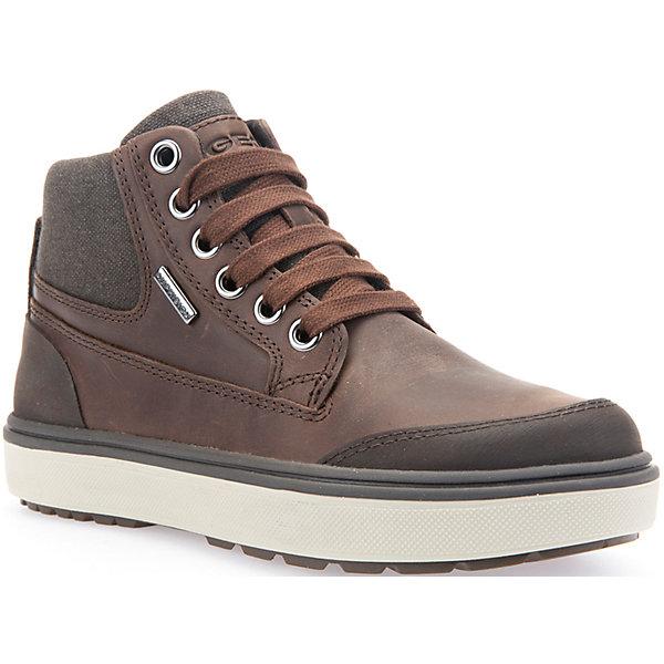 Ботинки для мальчика GeoxБотинки<br>Ботинки для мальчика GEOX (ГЕОКС)<br>Ботинки для мальчика от GEOX (ГЕОКС) выполнены из натуральной кожи. Модель имеет теплую подкладку и войлочную стельку с изоляционным алюминиевым слоем, что улучшается тепловое сопротивление в холодных условиях, повышая температуру внутри обуви. Влага не застаивается в обуви, благодаря чему создается идеальный микроклимат, который держит ноги теплыми и сухими, и позволяет им дышать естественно. Тип застежки шнуровка, также модель застёгивается на удобную боковую молнию, которая фиксируется небольшой липучкой. Колодка соответствует анатомическим особенностям строения детской стопы. Качественная амортизация снижает нагрузку на суставы. Легкая подошва из ЭВА с микропористой мембраной обеспечивает естественное дыхание обуви, не пропускает воду.<br><br>Дополнительная информация:<br><br>- Сезон: демисезон<br>- Цвет: коричневый<br>- Состав: натуральная кожа 60%, синтетический материал 40%<br>- Материал верха: натуральная кожа<br>- Внутренний материал: текстиль<br>- Материал стельки: текстиль<br>- Материал подошвы: резина<br>- Тип подошвы: рифленая<br>- Вид застежки: шнуровка, молния<br>- Высота задника: 7 см.<br>- Технология Amphibiox<br>- Материалы и продукция прошли специальную проверку T?V S?D, на отсутствие веществ, опасных для здоровья покупателей<br><br>Ботинки для мальчика GEOX (ГЕОКС) можно купить в нашем интернет-магазине.<br><br>Ширина мм: 257<br>Глубина мм: 180<br>Высота мм: 130<br>Вес г: 420<br>Цвет: коричневый<br>Возраст от месяцев: 48<br>Возраст до месяцев: 60<br>Пол: Мужской<br>Возраст: Детский<br>Размер: 28,37,35,33,31,32,34,38,36,30,29<br>SKU: 4865106