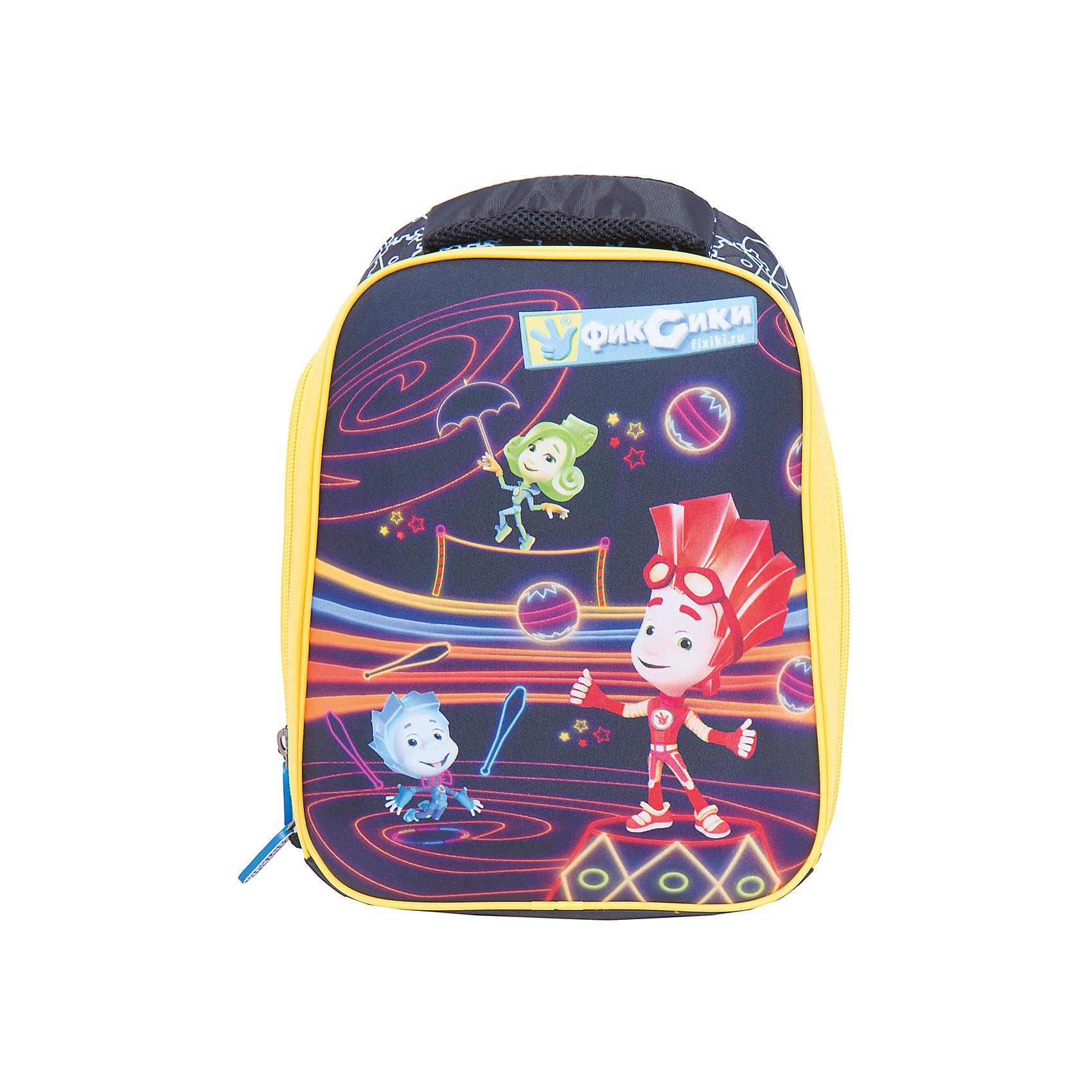 Рюкзак Фиксики. НоликРюкзак Фиксики. Нолик, CENTRUM (Центрум) ? рюкзак отечественного бренда детской серии. Рюкзаки этой серии выполнены из непромокаемого и прочного нейлона высокого качества, отличаются легким весом. <br>Внутреннее устройство рюкзака состоит из одного вместительного отсека, внутри которого есть две плотные перегородки. По бокам рюкзака имеются два сетчатых кармана. Эргономичность рюкзака обеспечивается ортопедической спинкой и широкими регулируемыми лямками. Устойчивость рюкзаку придают имеющиеся на дне пластиковые ножки. Для удобства переноса рюкзака в руках имеется мягкая ручка, кроме того предусмотрена ручка-петля, за которую рюкзак можно подвешивать. На рюкзаке имеются светоотражающие элементы.<br>Рюкзак выполнен в черном цвете с яркими элементами дизайна. На передней стороне имеется сюжетная картинка с героями из знаменитого мультфильма «Фиксики».<br>Рюкзак Фиксики. Нолик, CENTRUM (Центрум) ? это многофункциональность, качество и удобство использования. <br><br>Дополнительная информация:<br><br>- Вес: 750 г<br>- Габариты (Д*Г*В): 17*31,5*38 см<br>- Цвет: черный, желтый, оранжевый, голубой, зеленый<br>- Материал: нейлон, полиэстер<br>- Сезон: круглый год<br>- Коллекция: детская<br>- Пол: мужской<br>- Предназначение: для школы, для занятий спортом, для путешествий <br>- Особенности ухода: можно чистить влажной щеткой или губкой<br><br>Подробнее:<br><br>• Для детей в возрасте: от 3 лет и до 10 лет<br>• Страна производитель: Россия<br>• Торговый бренд: CENTRUM<br><br>Рюкзак Фиксики. Нолик, CENTRUM (Центрум) можно купить в нашем интернет-магазине.<br><br>Ширина мм: 170<br>Глубина мм: 315<br>Высота мм: 380<br>Вес г: 750<br>Возраст от месяцев: 36<br>Возраст до месяцев: 120<br>Пол: Унисекс<br>Возраст: Детский<br>SKU: 4865212