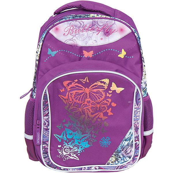 Школьный рюкзакРюкзаки<br>Школьный рюкзак, CENTRUM (Центрум) ? рюкзак отечественного бренда детской серии. Рюкзаки этой серии выполнены из непромокаемого и прочного полиэстера высокого качества, отличаются легким весом. <br>Внутреннее устройство рюкзака состоит из одного вместительного отсека. По бокам рюкзака имеются два сетчатых кармана. На передней стенке объемный карман на молнии. Эргономичность рюкзака обеспечивается уплотненной спинкой и широкими регулируемыми лямками. Для удобства переноса рюкзака в руках имеется  ручка-петля. На рюкзаке имеются светоотражающие элементы.<br>Рюкзак выполнен в ярком сливовом дизайне: на передней стенке имеется принт с порхающими разноцветными бабочками.<br>Школьный рюкзак, CENTRUM (Центрум) ? это многофункциональность, качество и удобство использования. <br><br>Дополнительная информация:<br><br>- Вес: 425 г<br>- Габариты (Д*Г*В): 14*29,5*40,5 см<br>- Цвет: сливовый, голубой, красный <br>- Материал: полиэстер<br>- Сезон: круглый год<br>- Коллекция: детская<br>- Пол: женский<br>- Предназначение: для школы, для занятий спортом, для путешествий <br>- Особенности ухода: можно чистить влажной щеткой или губкой<br><br>Подробнее:<br><br>• Для детей в возрасте: от 3 лет и до 10 лет<br>• Страна производитель: Китай<br>• Торговый бренд: CENTRUM<br><br>Школьный рюкзак, CENTRUM (Центрум) можно купить в нашем интернет-магазине.<br>Ширина мм: 140; Глубина мм: 295; Высота мм: 405; Вес г: 570; Возраст от месяцев: 72; Возраст до месяцев: 120; Пол: Мужской; Возраст: Детский; SKU: 4865228;