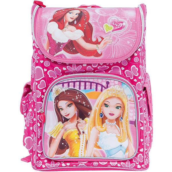 Ранец ПринцесыРанцы без наполнения<br>Ранец Принцесы, CENTRUM (Центрум) ? каркасный рюкзак отечественного бренда детской серии. Рюкзаки этой серии выполнены из непромокаемого и прочного полиэстера высокого качества, отличаются легким весом. <br>Внутреннее устройство рюкзака состоит из одного вместительного отсека. По бокам рюкзака имеются два объемных кармана. На передней стенке объемный карман на молнии. Эргономичность рюкзака обеспечивается плотной спинкой и широкими регулируемыми лямками. Для удобства переноса рюкзака в руках имеется  ручка-петля. <br>Рюкзак выполнен в ярком дизайне: розовом фоне из цветов и сердецек изображены принцессы.<br>Ранец Принцесы, CENTRUM (Центрум) ? это многофункциональность, качество и удобство использования. <br><br>Дополнительная информация:<br><br>- Вес: 970 г<br>- Габариты (Д*Г*В): 14*27*40 см<br>- Цвет: розовый, желтый, белый<br>- Материал: полиэстер<br>- Сезон: круглый год<br>- Коллекция: детская<br>- Пол: женский<br>- Предназначение: для школы, для занятий спортом, для путешествий <br>- Особенности ухода: можно чистить влажной щеткой или губкой<br><br>Подробнее:<br><br>• Для детей в возрасте: от 3 лет и до 10 лет<br>• Страна производитель: Китай<br>• Торговый бренд: CENTRUM<br><br>Ранец Принцесы, CENTRUM (Центрум) можно купить в нашем интернет-магазине.<br>Ширина мм: 140; Глубина мм: 270; Высота мм: 400; Вес г: 970; Возраст от месяцев: 72; Возраст до месяцев: 120; Пол: Мужской; Возраст: Детский; SKU: 4865229;