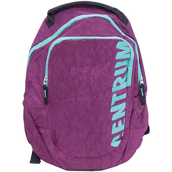 Спортивный рюкзакДетские рюкзаки<br>Спортивный рюкзак, CENTRUM (Центрум) ? рюкзак отечественного бренда молодежной серии. Рюкзаки этой серии выполнены из непромокаемого и прочного нейлона высокого качества, отличаются легким весом. <br>Внутреннее устройство рюкзака состоит из одного вместительного отсека. На передней стенке внешний карман на молнии. Эргономичность рюкзака обеспечивается широкими регулируемыми лямками. Для удобства переноса рюкзака в руках имеется  ручка-петля. <br>Рюкзак выполнен в сливовом цвете, на передней стенке имеется брендовая надпись бирюзового цвета.<br>Спортивный рюкзак, CENTRUM (Центрум) ? это многофункциональность, качество и удобство использования. <br><br>Дополнительная информация:<br><br>- Вес: 740 г<br>- Габариты (Д*Г*В): 18,5*36*42 см<br>- Цвет: сливовый, бирюзовый<br>- Материал: нейлон<br>- Сезон: круглый год<br>- Коллекция: молодежная<br>- Пол: женский<br>- Предназначение: для школы, для занятий спортом, для путешествий <br>- Особенности ухода: можно чистить влажной щеткой или губкой<br><br>Подробнее:<br><br>• Для детей в возрасте: от 12 лет <br>• Страна производитель: Китай<br>• Торговый бренд: CENTRUM<br><br>Спортивный рюкзак, CENTRUM (Центрум) можно купить в нашем интернет-магазине.<br>Ширина мм: 185; Глубина мм: 360; Высота мм: 420; Вес г: 490; Возраст от месяцев: 36; Возраст до месяцев: 120; Пол: Женский; Возраст: Детский; SKU: 4865231;