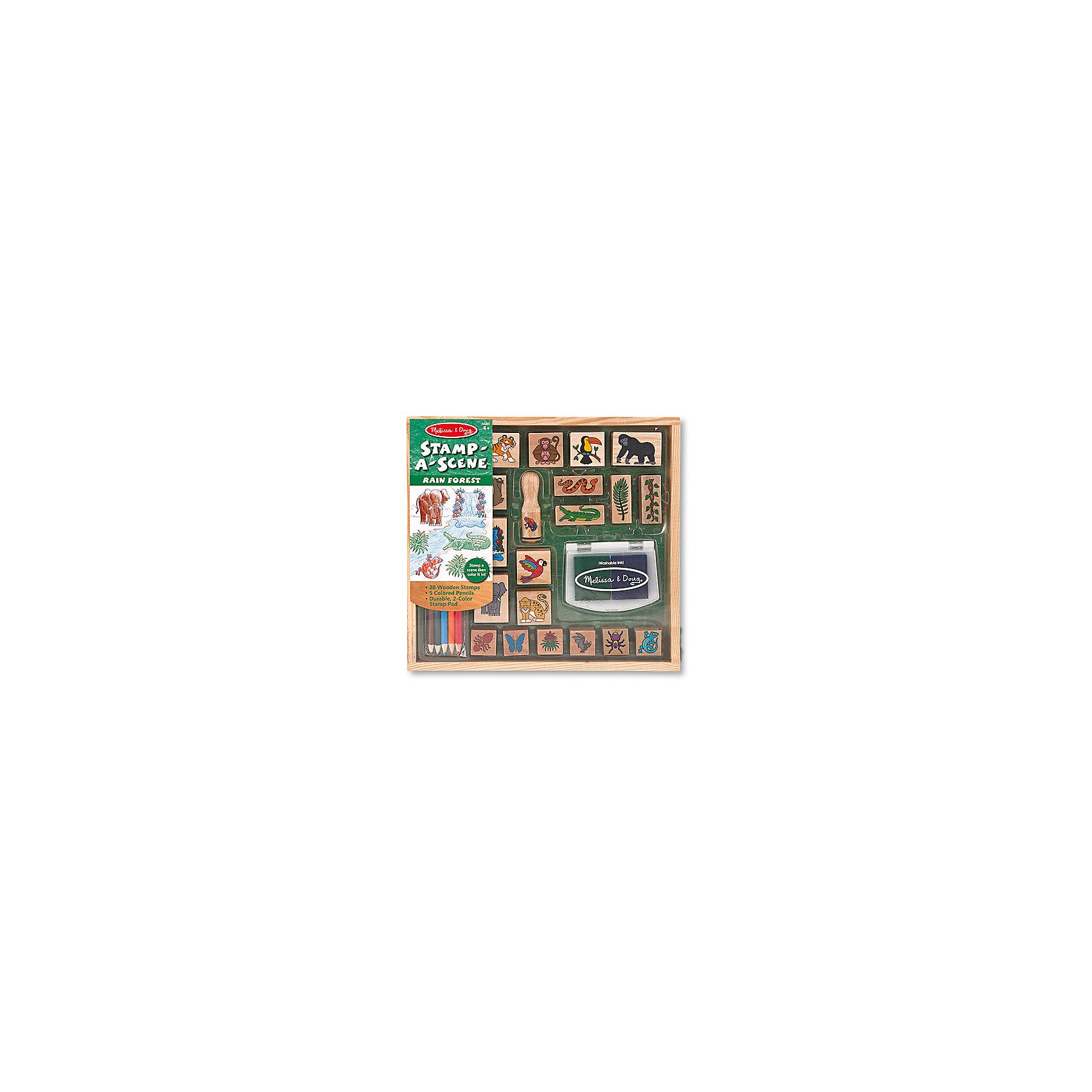 Набор печатей ДжунглиРисование<br>Это огромный набор деревянный штампиков, с помощью которых ребенок сможет себя почувствовать настоящим художником! <br><br>Дополнительная информация:<br><br>- В наборе: деревянная коробка с несколькими отсеками, 20 штампов, подушечка с нетоксичными, легко смываемыми чернилами синего и зеленого цветов, 5 насыщенных цветных карандашей.<br>- Возраст: от 4 лет.<br>- Размер упаковки: 28х4х27 см.<br><br>Купить набор печатей Джунгли можно в нашем магазине.<br><br>Ширина мм: 280<br>Глубина мм: 40<br>Высота мм: 270<br>Вес г: 725<br>Возраст от месяцев: 48<br>Возраст до месяцев: 96<br>Пол: Унисекс<br>Возраст: Детский<br>SKU: 4865267