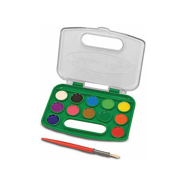 Набор акварельных красок, 12 цветов, Melissa &amp; DougКраски и кисточки<br>Набор позволит ребенку полностью проявить свою фантазию и нарисовать множество рисунков разноцветными красками из комплекта.<br><br>Дополнительная информация:<br><br>- Возраст: от 3 лет.<br>- В набор входит: кисточка и краски 12 цветов.<br>- Материал: пластик.<br>- Размер упаковки: 15х1х12 см.<br><br>Купить набор акварельных красок можно в нашем магазине.<br><br>Ширина мм: 150<br>Глубина мм: 10<br>Высота мм: 120<br>Вес г: 113<br>Возраст от месяцев: 36<br>Возраст до месяцев: 120<br>Пол: Унисекс<br>Возраст: Детский<br>SKU: 4865269