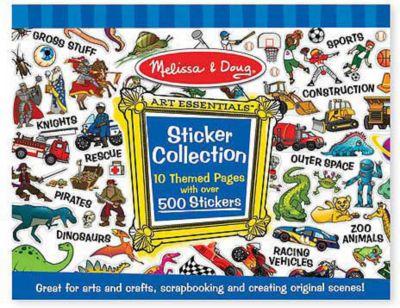 Melissa & Doug Набор стикеров Голубой , 500 наклеек