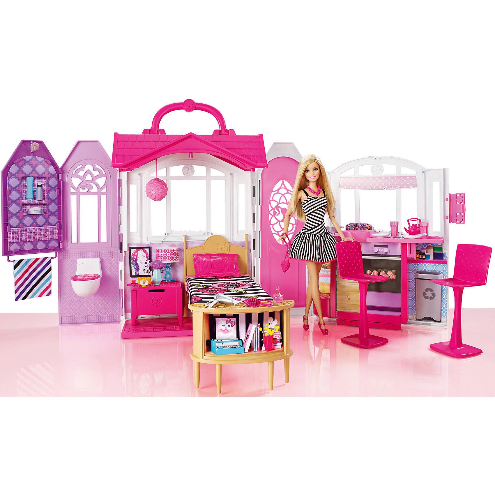 Переносной домик с куклой, Barbie