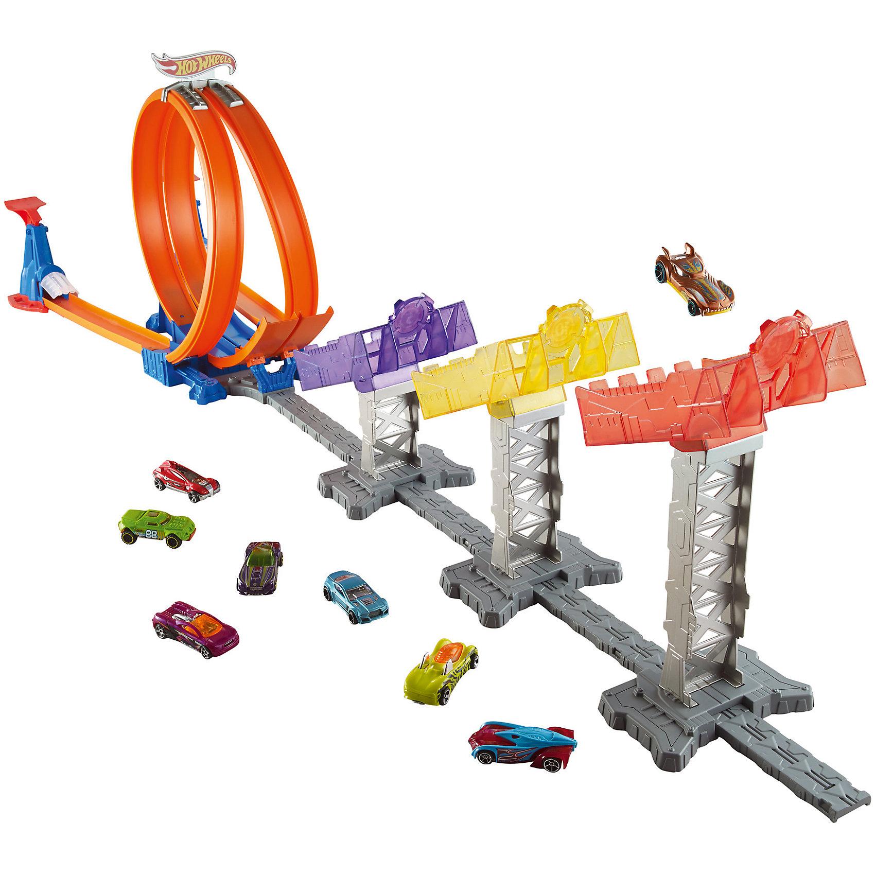 Суперскоростная трасса, Hot WheelsСуперскоростная трасса, Hot Wheels - это потрясающий трек серии Hot Wheels, который, несомненно, порадует каждого мальчишку!<br>Узнай, кто из твоих друзей самый быстрый и меткий гонщик и у кого дальше долетит спорт-кар, запускай машинки по головокружительным петлям! Два лончера для машинок и две сногсшибательные петли сделают гонку азартной и увлекательной. Запускай машинки по треке и смотри, какая дальше приземлится по специальным контейнерам. В комплект также входит 1 коллекционная машинка Hot Wheels в масштабе 1:64. Автомобиль выполнен из высококачественных, ударостойких материалов - а значит, устраивать гонки ты сможешь снова и снова!<br><br>Дополнительная информация:<br><br>- В наборе: машинка, детали для сборки трассы, два пусковых устройства<br>- Материл: пластик<br>- Размер упаковки: 7х51х30,5 см.<br>- Вес: 1,375 кг.<br><br>Суперскоростную трассу, Hot Wheels можно купить в нашем интернет-магазине.<br><br>Ширина мм: 70<br>Глубина мм: 510<br>Высота мм: 305<br>Вес г: 1375<br>Возраст от месяцев: 48<br>Возраст до месяцев: 144<br>Пол: Мужской<br>Возраст: Детский<br>SKU: 4865284