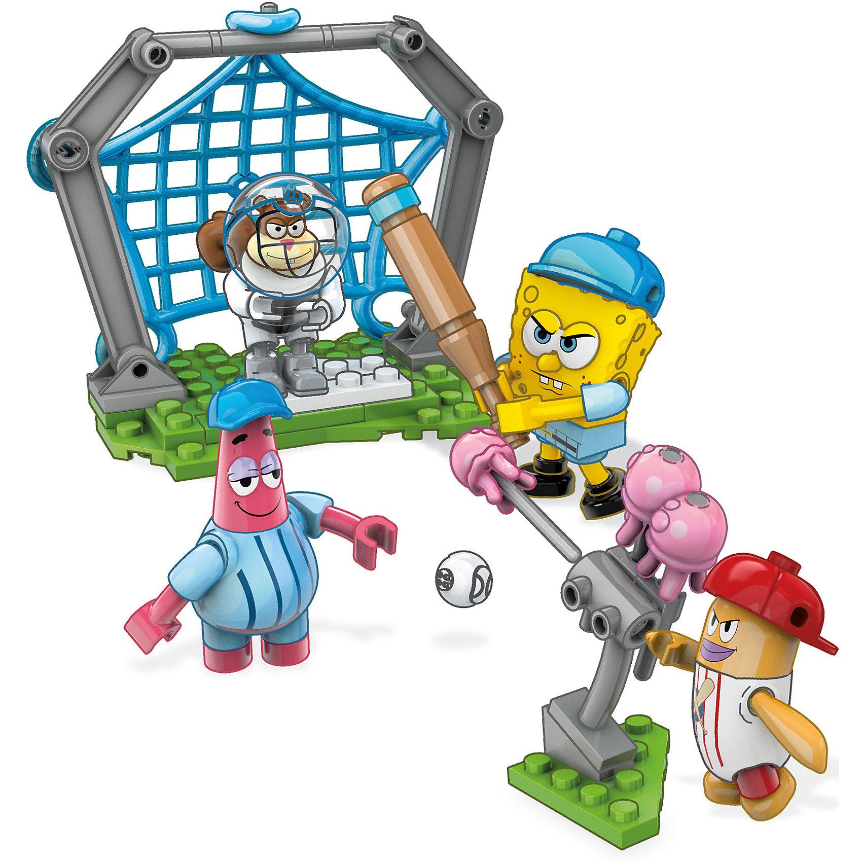 Губка Боб: мини игровой набор, Mega BloksКонструктор SpongeBob SquarePants, Mega Bloks (Мега Блокс) ? один из наборов, входящий в серию, посвященную знаменитому Губке Бобу и его друзьям. Конструктор этой серии состоит из нескольких мини-фигурок основных героев и аксессуаров для сюжетной игры. В этот раз любимые герои предстают в образе бейсболистов. Так как друзья отличаются озорным нравом, то и бейсбол у них особенный: вместо мяча они играют медузами. Дополнительно в наборе идет метатель медуз и изменяемая по размерам кабина для тренировок.<br>Конструктор SpongeBob SquarePants, Mega Bloks (Мега Блокс) выполнен из качественного прочного пластика. Конструктором предусмотрена совместимость с другими наборами серии SpongeBob SquarePants от Mega Bloks и с конструкторами Lego.<br>Играя с конструктором, ваш ребенок развивает мелкую моторику рук и логическое мышление, тренирует память. Сюжетность конструктора способствует развитию воображения и фантазии.<br><br>Дополнительная информация:<br><br>- Вид игр: сюжетно-ролевые, конструирование <br>- Предназначение: для дома<br>- Материал: пластик<br>- Комплектация: мини-фигурки, аксессуары<br>- Размер (Д*Ш*В): 4,5*15*24,5 см<br>- Вес: 329 г <br>- Особенности ухода: детали конструктора можно мыть<br><br>Подробнее:<br><br>• Для детей в возрасте: от 5 лет и до 10 лет<br>• Страна производитель: Китай<br>• Торговый бренд: Mega Bloks<br><br>Конструктор SpongeBob SquarePants, Mega Bloks (Мега Блокс) можно купить в нашем интернет-магазине.<br><br>Ширина мм: 45<br>Глубина мм: 150<br>Высота мм: 245<br>Вес г: 329<br>Возраст от месяцев: 60<br>Возраст до месяцев: 120<br>Пол: Мужской<br>Возраст: Детский<br>SKU: 4867663