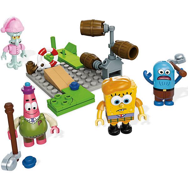 Губка Боб: мини игровой набор, Mega BloksПластмассовые конструкторы<br>Конструктор SpongeBob SquarePants, Mega Bloks (Мега Блокс) ? один из наборов, входящий в серию, посвященную знаменитому Губке Бобу и его друзьям. Конструктор этой серии состоит из нескольких мини-фигурок основных героев и аксессуаров для сюжетной игры. В этот раз любимые герои предстают в образе пиратов. Дополнительно в наборе идет пиратский плот с доской.<br>Конструктор SpongeBob SquarePants, Mega Bloks (Мега Блокс) выполнен из качественного прочного пластика. Конструктором предусмотрена совместимость с другими наборами серии SpongeBob SquarePants от Mega Bloks и с конструкторами Lego.<br>Играя с конструктором, ваш ребенок развивает мелкую моторику рук и логическое мышление, тренирует память. Сюжетность конструктора способствует развитию воображения и фантазии.<br><br>Дополнительная информация:<br><br>- Вид игр: сюжетно-ролевые, конструирование <br>- Предназначение: для дома<br>- Материал: пластик<br>- Комплектация: мини-фигурки, аксессуары<br>- Размер (Д*Ш*В): 4,5*15*24,5 см<br>- Вес: 329 г <br>- Особенности ухода: детали конструктора можно мыть<br><br>Подробнее:<br><br>• Для детей в возрасте: от 5 лет и до 10 лет<br>• Страна производитель: Китай<br>• Торговый бренд: Mega Bloks<br><br>Конструктор SpongeBob SquarePants, Mega Bloks (Мега Блокс) можно купить в нашем интернет-магазине.<br><br>Ширина мм: 45<br>Глубина мм: 150<br>Высота мм: 245<br>Вес г: 329<br>Возраст от месяцев: 60<br>Возраст до месяцев: 120<br>Пол: Мужской<br>Возраст: Детский<br>SKU: 4867664