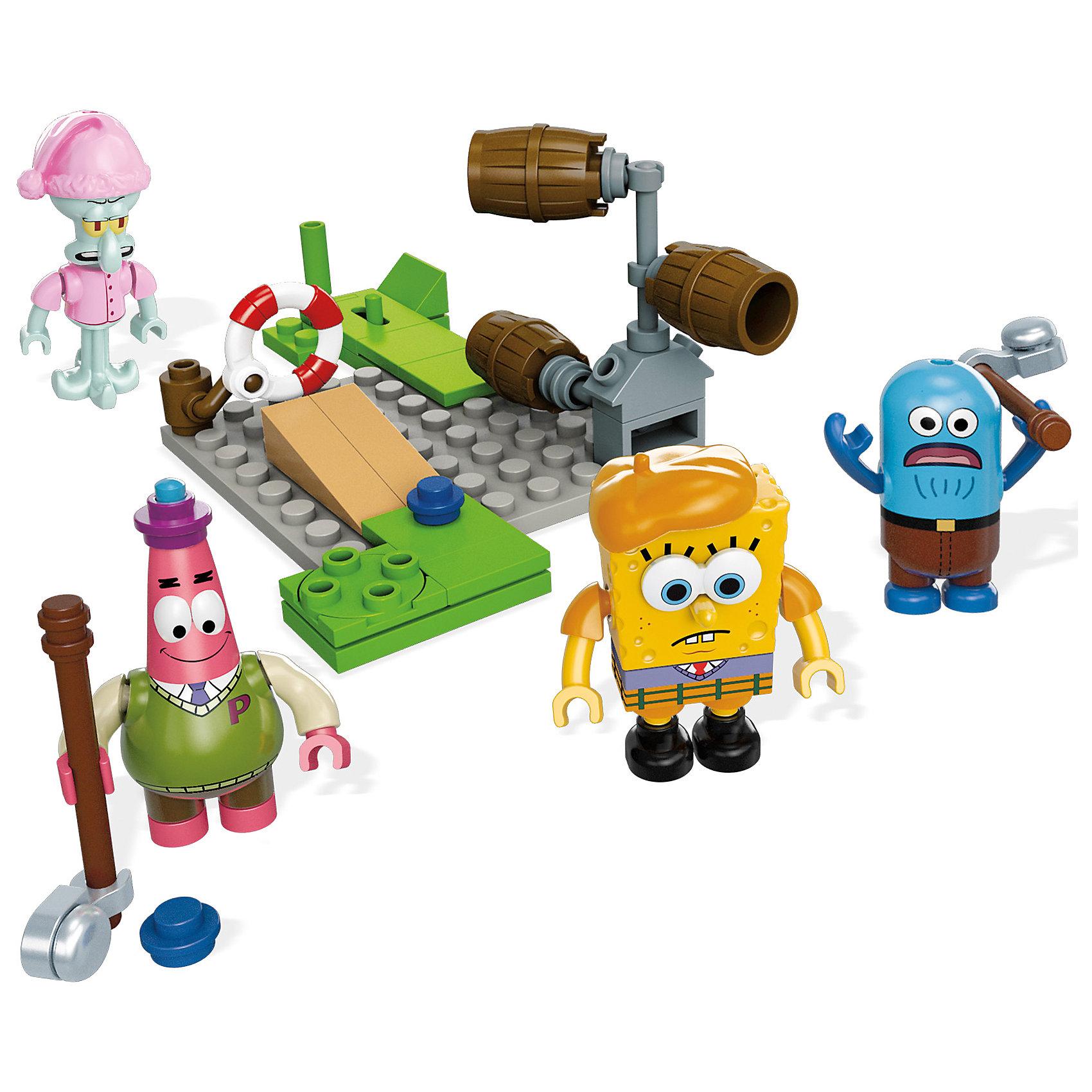 Губка Боб: мини игровой набор, Mega BloksКонструктор SpongeBob SquarePants, Mega Bloks (Мега Блокс) ? один из наборов, входящий в серию, посвященную знаменитому Губке Бобу и его друзьям. Конструктор этой серии состоит из нескольких мини-фигурок основных героев и аксессуаров для сюжетной игры. В этот раз любимые герои предстают в образе пиратов. Дополнительно в наборе идет пиратский плот с доской.<br>Конструктор SpongeBob SquarePants, Mega Bloks (Мега Блокс) выполнен из качественного прочного пластика. Конструктором предусмотрена совместимость с другими наборами серии SpongeBob SquarePants от Mega Bloks и с конструкторами Lego.<br>Играя с конструктором, ваш ребенок развивает мелкую моторику рук и логическое мышление, тренирует память. Сюжетность конструктора способствует развитию воображения и фантазии.<br><br>Дополнительная информация:<br><br>- Вид игр: сюжетно-ролевые, конструирование <br>- Предназначение: для дома<br>- Материал: пластик<br>- Комплектация: мини-фигурки, аксессуары<br>- Размер (Д*Ш*В): 4,5*15*24,5 см<br>- Вес: 329 г <br>- Особенности ухода: детали конструктора можно мыть<br><br>Подробнее:<br><br>• Для детей в возрасте: от 5 лет и до 10 лет<br>• Страна производитель: Китай<br>• Торговый бренд: Mega Bloks<br><br>Конструктор SpongeBob SquarePants, Mega Bloks (Мега Блокс) можно купить в нашем интернет-магазине.<br><br>Ширина мм: 45<br>Глубина мм: 150<br>Высота мм: 245<br>Вес г: 329<br>Возраст от месяцев: 60<br>Возраст до месяцев: 120<br>Пол: Мужской<br>Возраст: Детский<br>SKU: 4867664