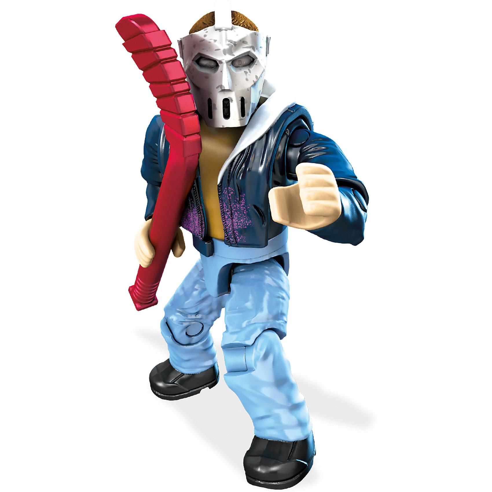 Фигурка персонажа фильма Черепашки Ниндзя II, Mega BloksФигурка Кейси Джонс, Mega Bloks (Мега Блокс) ? один из героев персонажей фильма «Черепашки-ниндзя II». Коллекционная фигурка выполнена из безопасного пластика с яркими цветами, устойчивыми к повреждениям. Фигурка обладает 11 подвижными элементами и включает аксессуары, характерные для персонажа. Оружие фиксируется в руках.<br>Все элементы фигурки выполнены с точной детализацией героя фильма «Черепашки-ниндзя II». Кейси Джонс ? друг черепашек, который сражается с преступностью, виртуозно владеет техникой рукопашного боя. В этой серии фигурка представлена с одним из излюбленных оружием ? хоккейной клюшкой.<br>Фигурка Кейси Джонса, Mega Bloks (Мега Блокс) позволит вашему ребенку не только воспроизвести истории и сюжеты из фильма, но и придумать свою, новую историю борьбы с несправедливостью и преступностью.<br>Сюжетно-ролевые игры на основе конструктора позволят вашему ребенку развивать логическое мышление, воображение, а также тренировать память. <br><br>Дополнительная информация:<br><br>- Вид игр: сюжетно-ролевые <br>- Предназначение: для дома<br>- Материал: пластик<br>- Размер (Д*Ш*В): 2,5*9*12,5 см<br>- Вес: 14 г <br>- Особенности ухода: фигурки можно мыть в теплой мыльной воде<br><br>Подробнее:<br><br>• Для детей в возрасте: от 6 лет и до 12 лет<br>• Страна производитель: Китай<br>• Торговый бренд: Mega Bloks<br><br>Фигурку Кейси Джонса, Mega Bloks (Мега Блокс), можно купить в нашем интернет-магазине.<br><br>Ширина мм: 25<br>Глубина мм: 90<br>Высота мм: 125<br>Вес г: 14<br>Возраст от месяцев: 72<br>Возраст до месяцев: 144<br>Пол: Мужской<br>Возраст: Детский<br>SKU: 4867669
