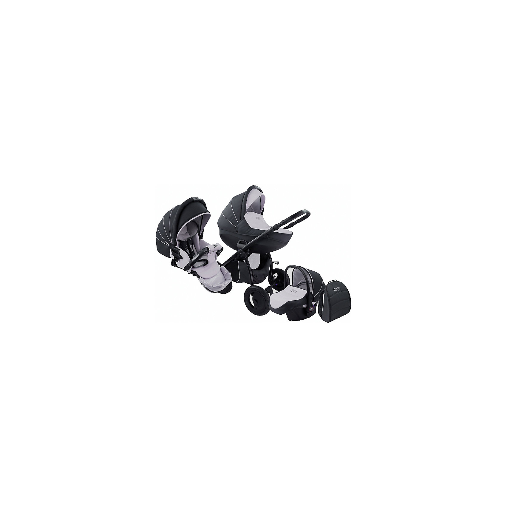 TUTIS Коляска 3 в 1 Zippy Sport Plus, Tutis, темно-серый/светло-серый