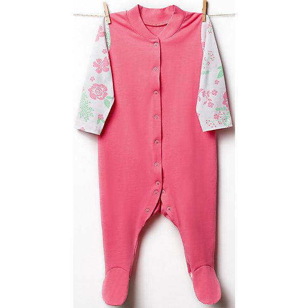 Комбинезон для девочки GoldyКомбинезоны<br>Комбинезон для девочки от известного бренда Goldy<br>Комбинезон с длинными рукавами для девочки. Изделие выполнено из ткани розового цвета, рукава и ступни - принт<br>Состав:<br>100% хлопок<br>Ширина мм: 157; Глубина мм: 13; Высота мм: 119; Вес г: 200; Цвет: розовый; Возраст от месяцев: 6; Возраст до месяцев: 9; Пол: Женский; Возраст: Детский; Размер: 80,68,62,74,56; SKU: 4868365;